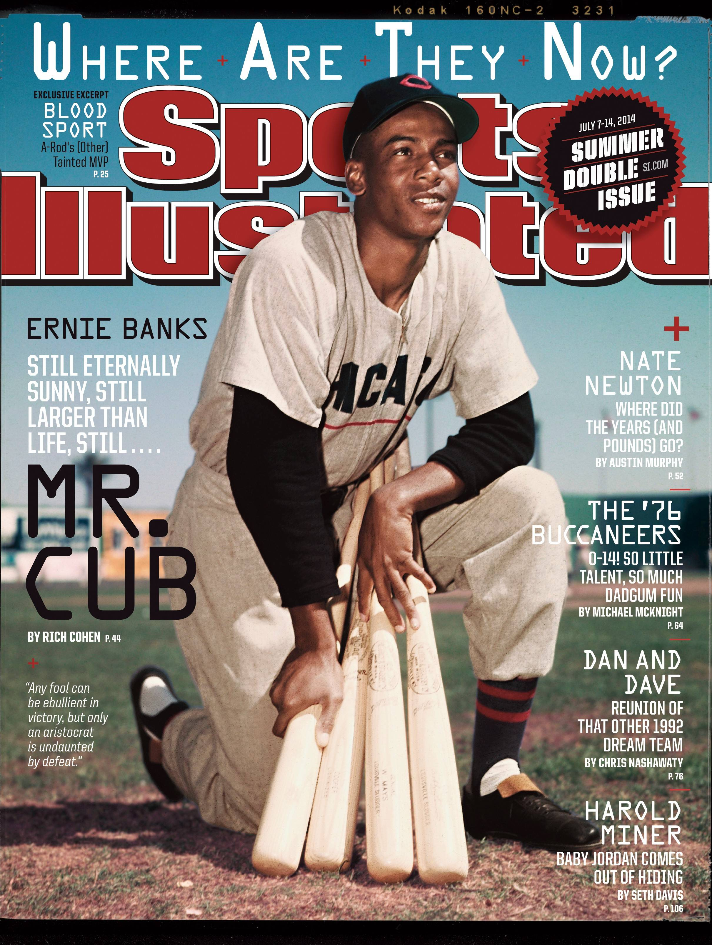 Cubs icon Ernie Banks graces the cover of this week's Sports Illustrated magazine for its 'Where Are They Now?' issue.