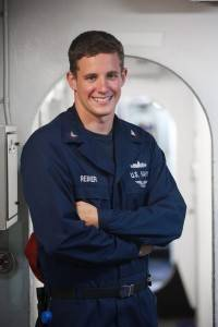 Matthew Reiner, Prospect grad and Petty Officer 2nd Class