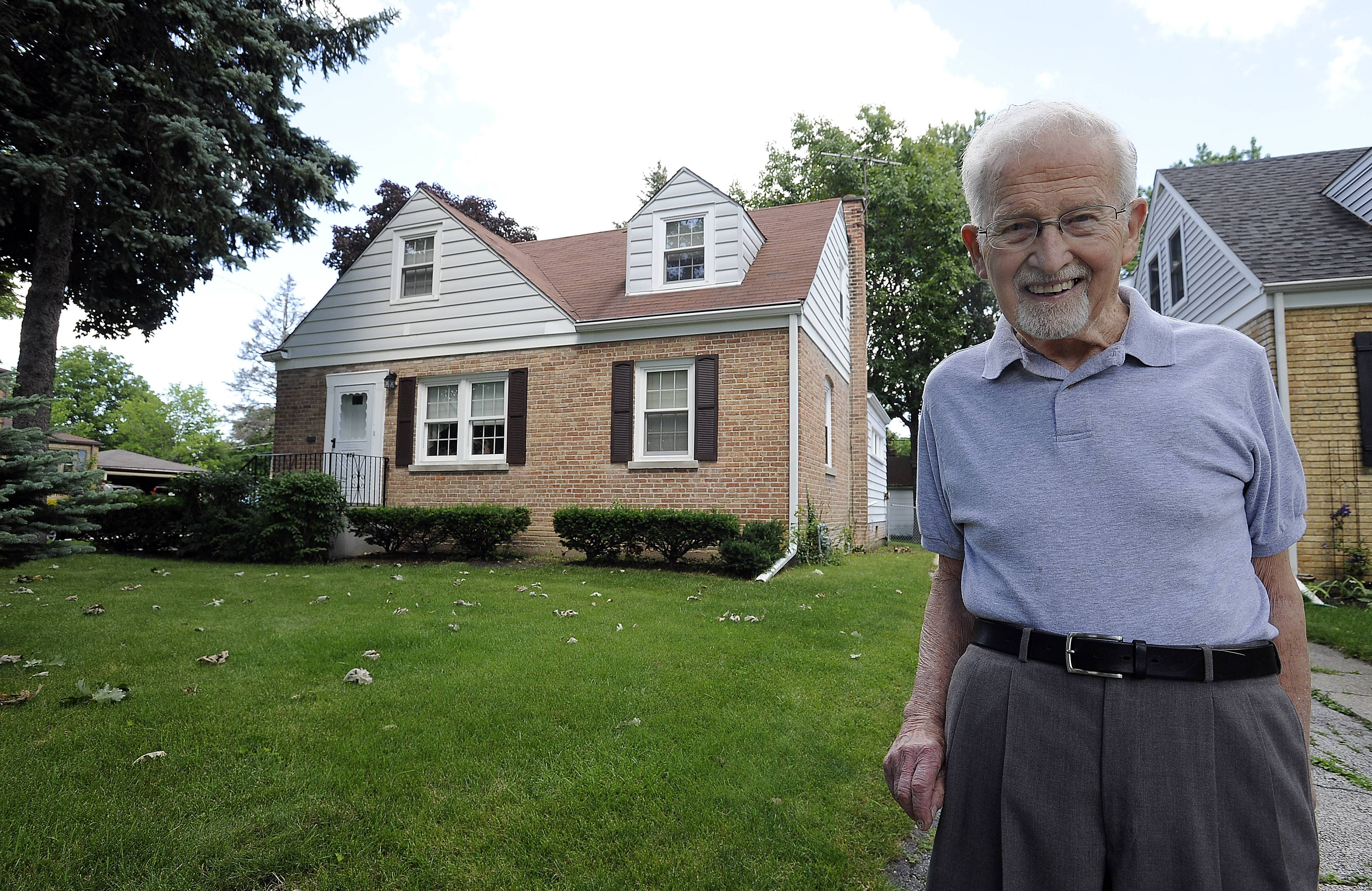 Mount Prospect resident Henry Blim, a 90-year-old veteran of World War II, will receive a free roof for his house as part of local business Peterson Roofing's No Roof Left Behind contest.