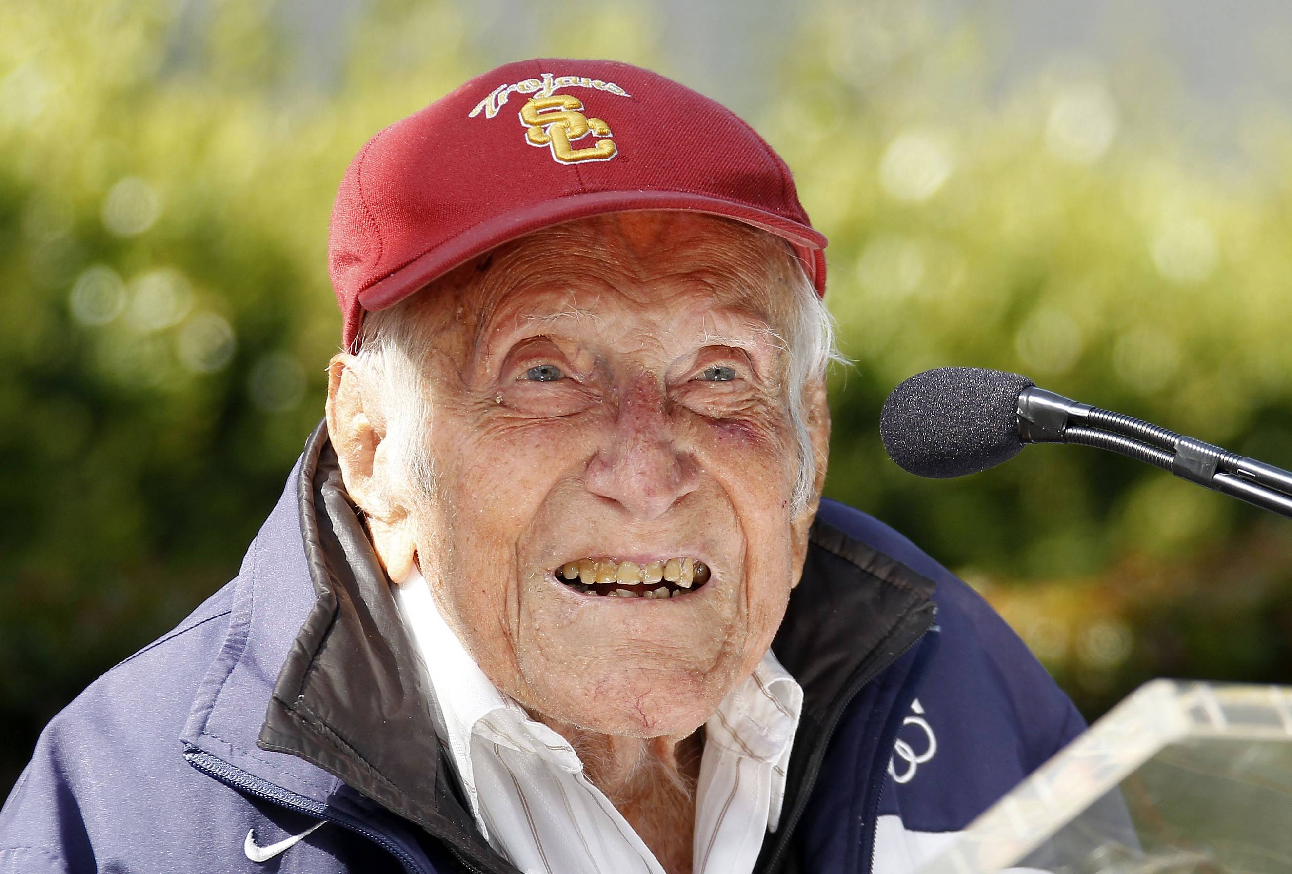 Louis Zamperini, a U.S. Olympic distance runner and World War II veteran who survived 47 days on a raft in the Pacific after his bomber crashed, then endured two years in Japanese prison camps, died Wednesday, July 2, 2014, according to Universal Pictures studio spokesman Michael Moses. He was 97.