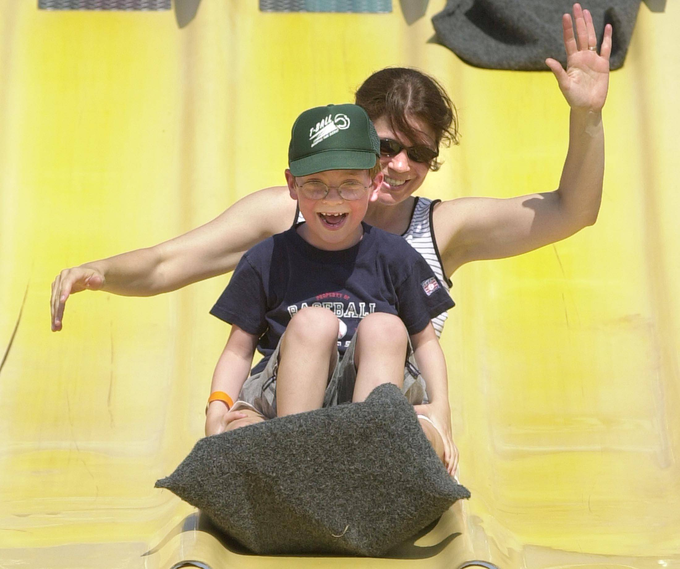 Ribfest's family area includes all-day attractions such as laser tag, an obstacle course and a potato sack slide.