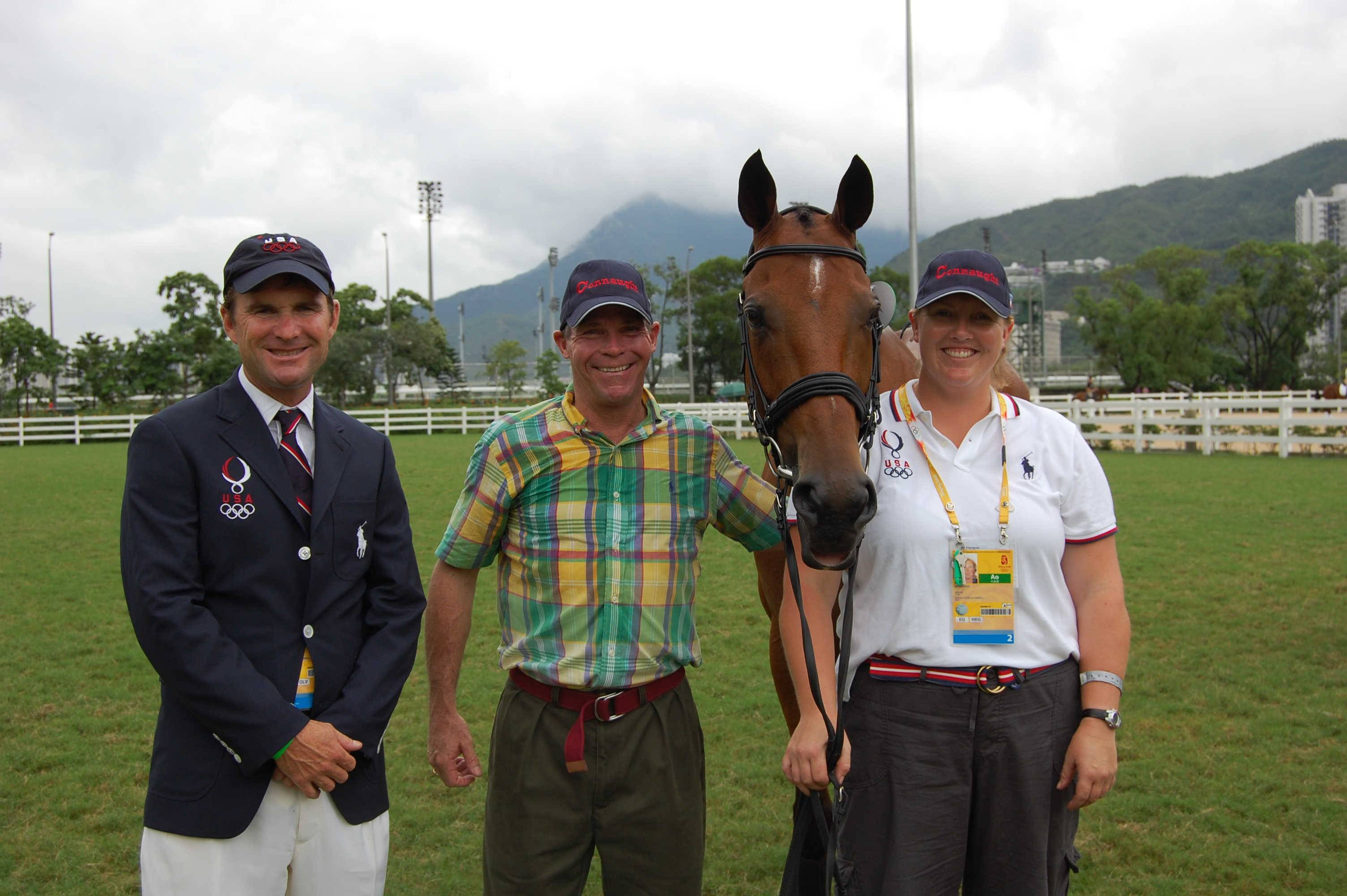Bruce Duchossois, center, at the 2008 Olympic Games.