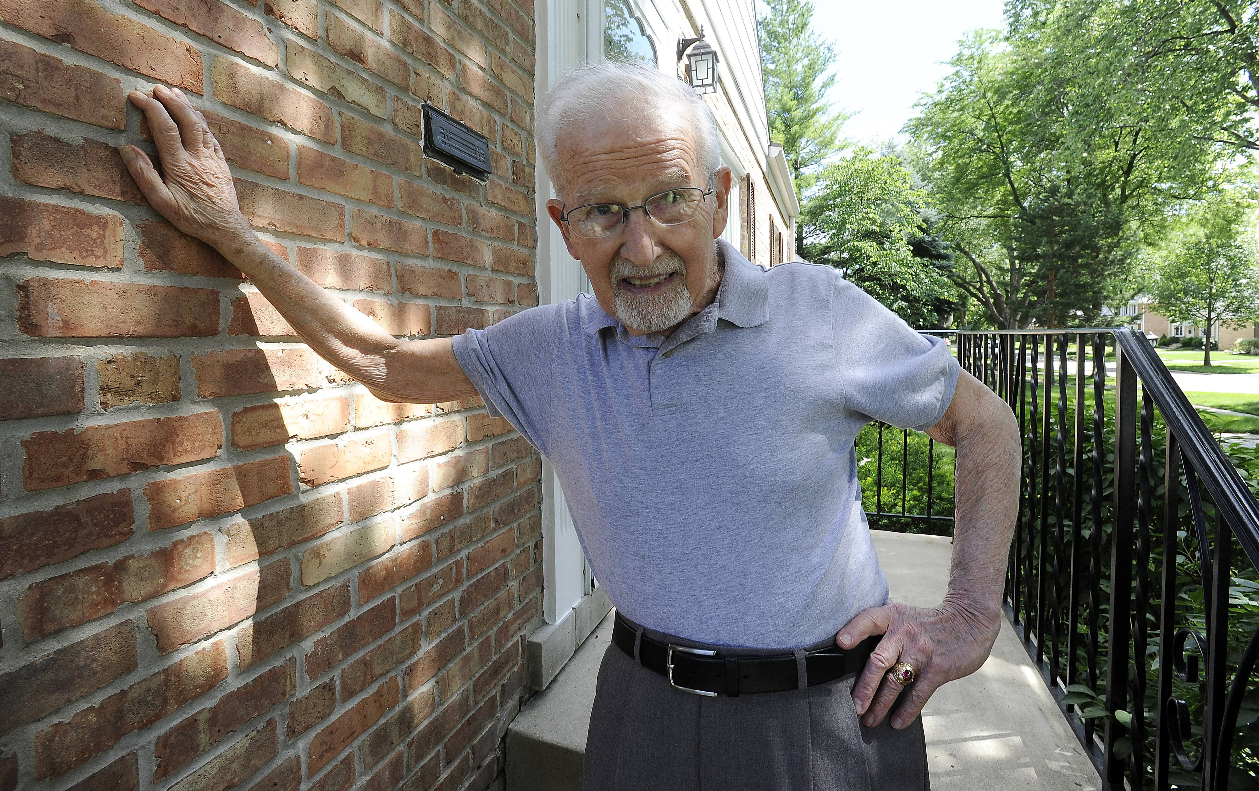 Henry Blim, a 90-year-old veteran of World War II, moved to Mount Prospect in the early 1950s.