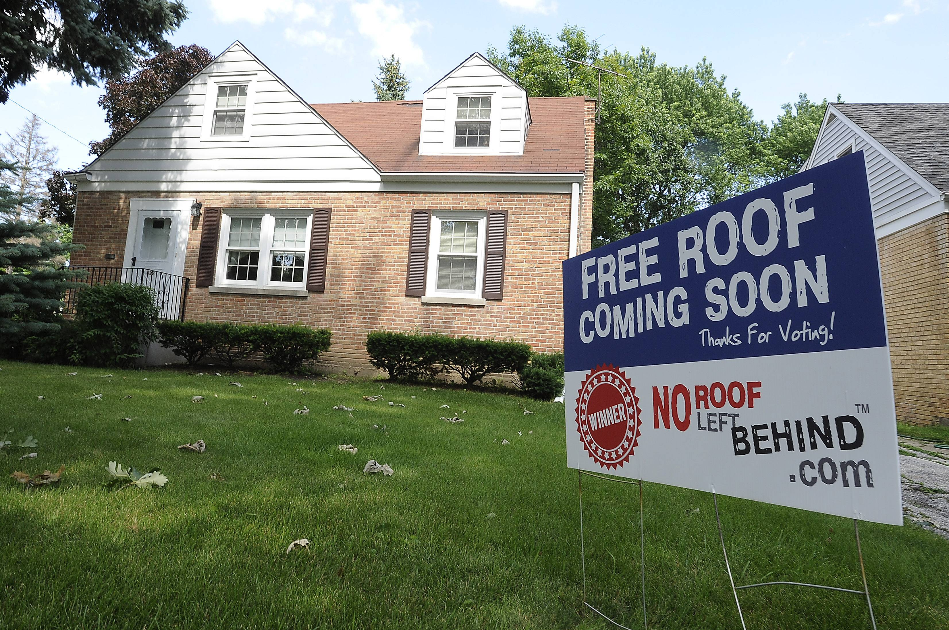 Mount Prospect resident Henry Blim will receive a free roof for his house as part of Peterson Roofing's No Roof Left Behind contest.