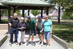 Seniors enjoy bocce ball at the Community Recreation Center.Schaumburg Park District