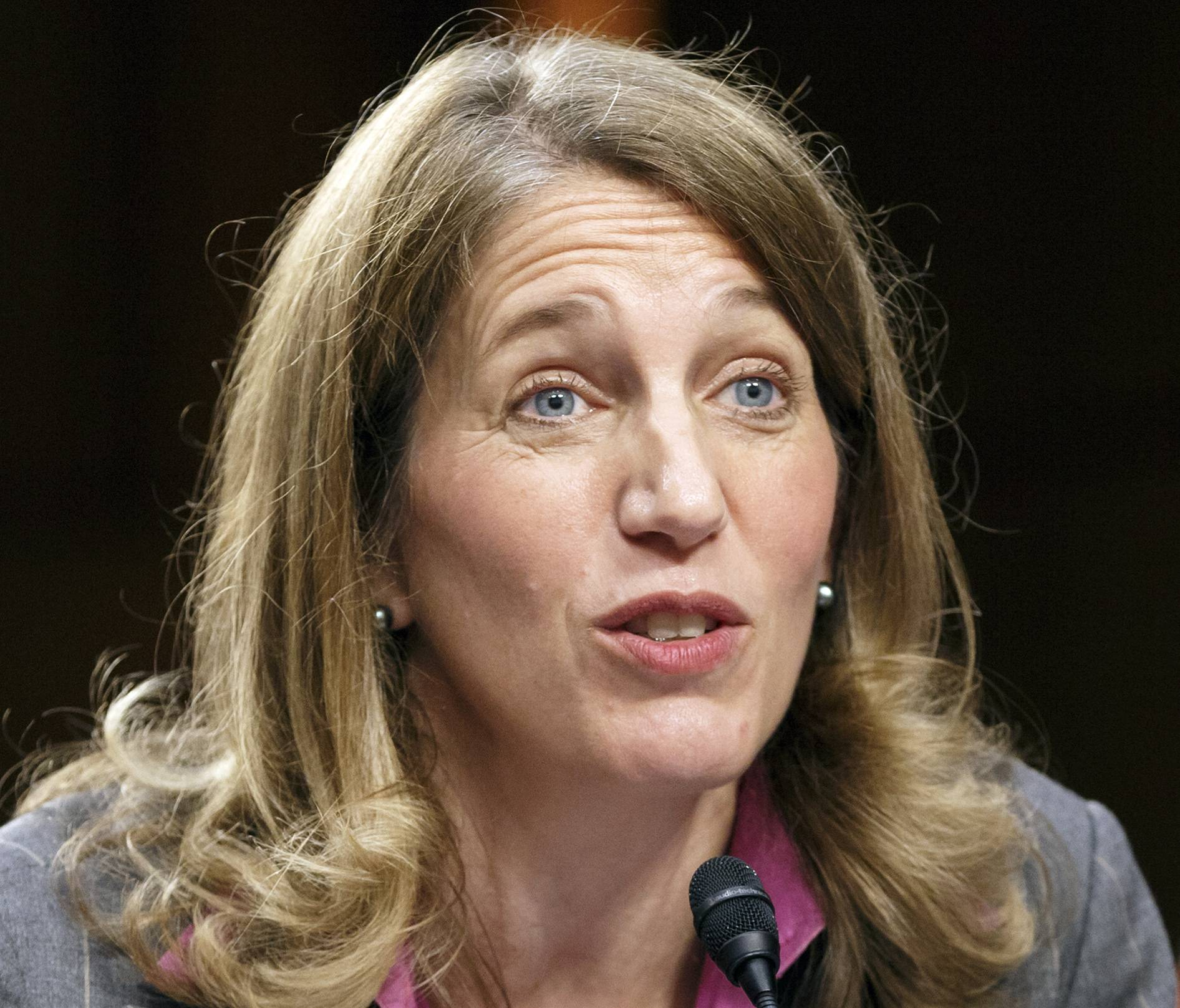 This May 14, 2014 file photo shows then-Health and Human Service Secretary nominee Sylvia Mathews Burwell testifying on Capitol Hill in Washington. The Obama administration has been struggling to clear up data discrepancies that could potentially jeopardize coverage for millions under the health overhaul, the government's health care fraud watchdog reported.