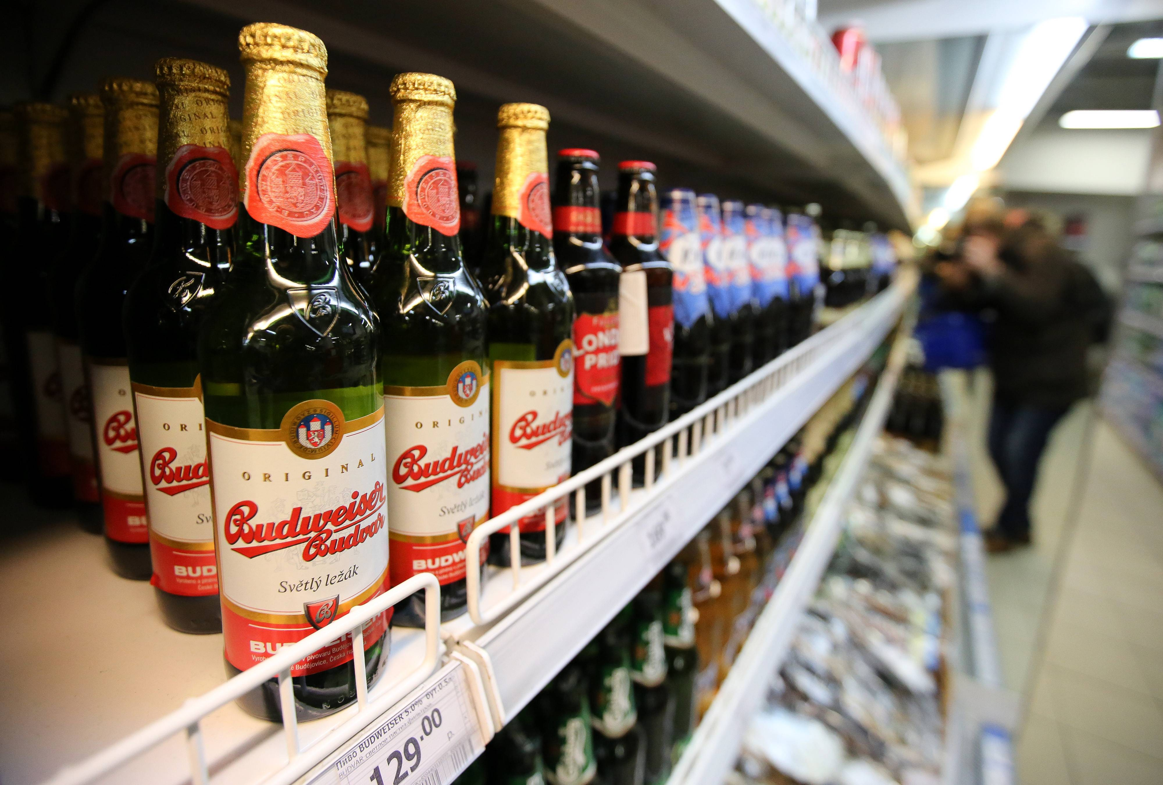 Bottles of Budvar beer on sale in Moscow. As the summer season begins to sizzle, Czech brewers are lining up against other international brands to win over drinkers in former Soviet republics to the east and Asia.