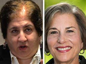 Susanne Atanus faces Jan Schakowsky, right, in the 9th Congressional District race in the 2014 general election.