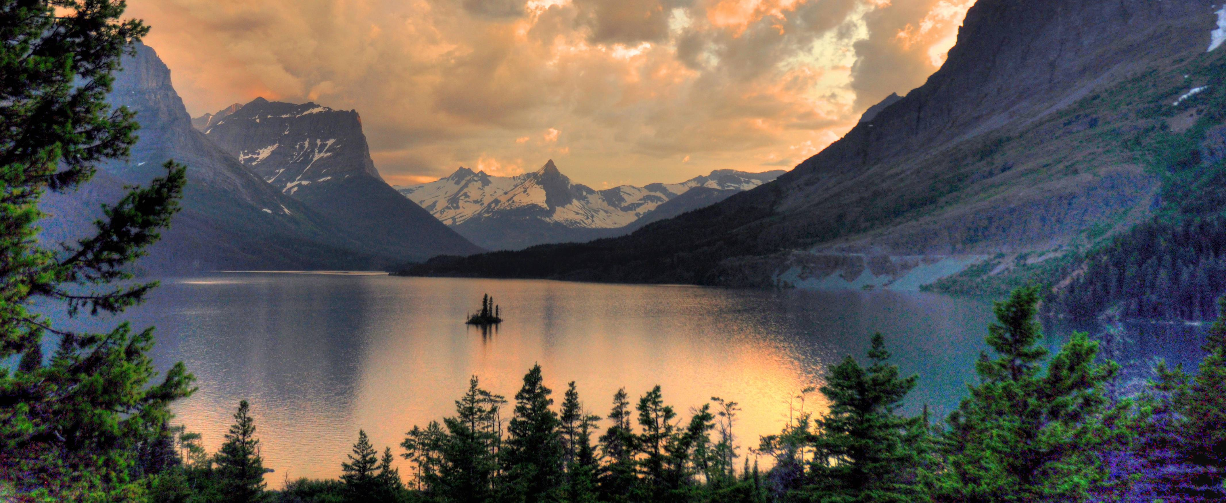 During a summer vacation to Glacier National Park, my son and I watched this beautiful sunset from the Wild Goose Island Overlook on our first evening in the park.