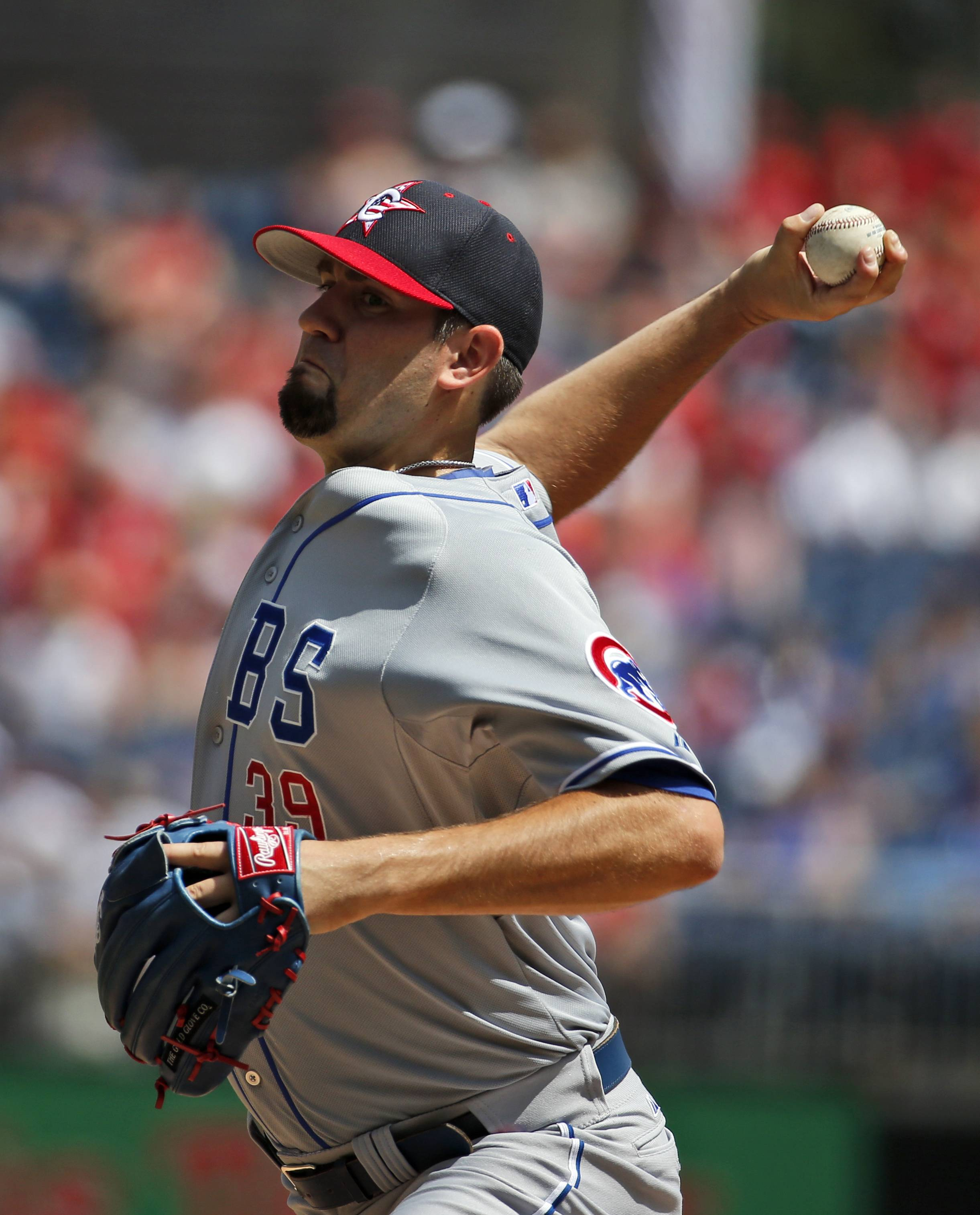 Pitcher Jason Hammel got the win for the Cubs on Friday, then was traded.