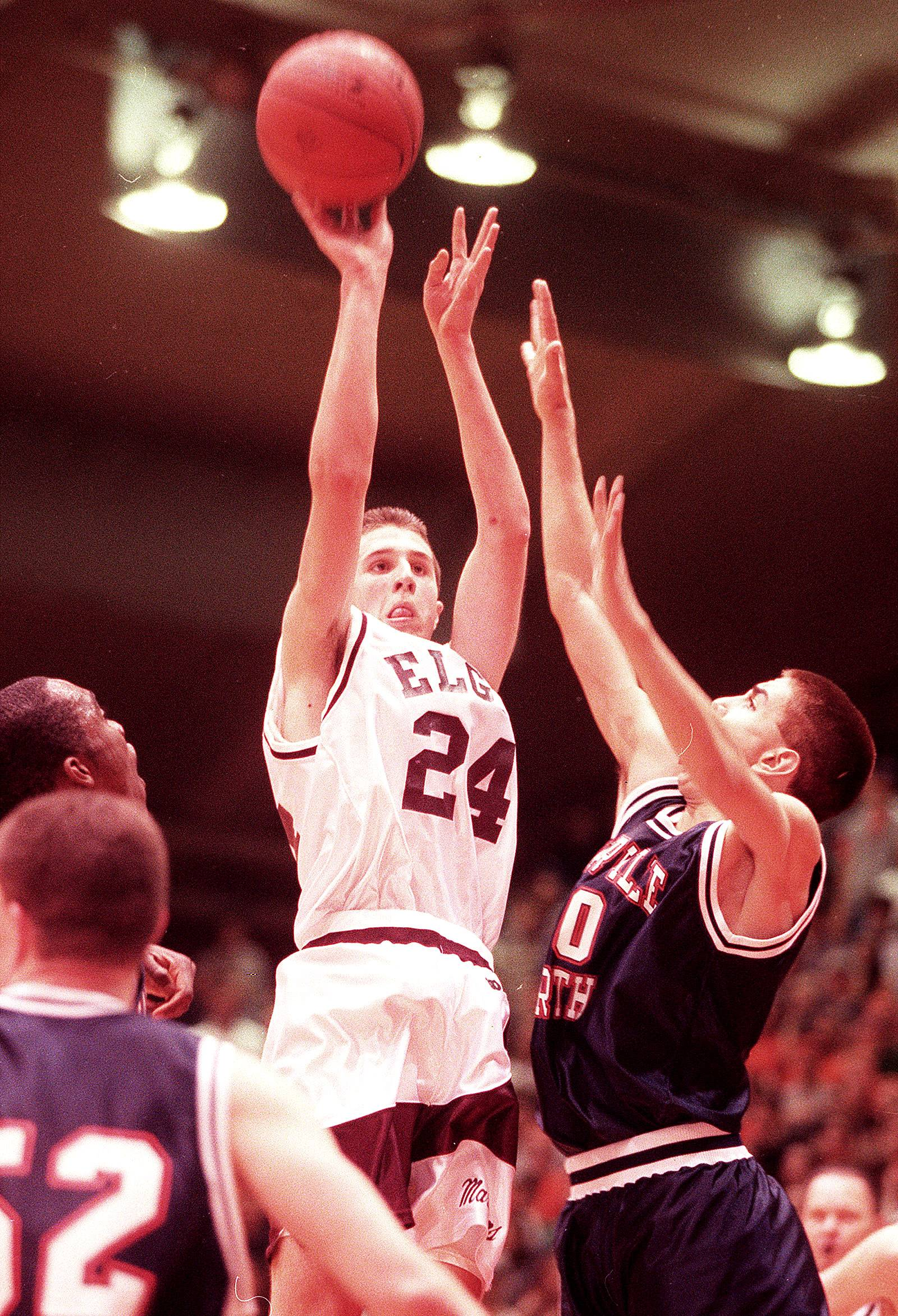 When he played for Elgin High School, Sean Harrington (24) was one of the top scorers in the state.