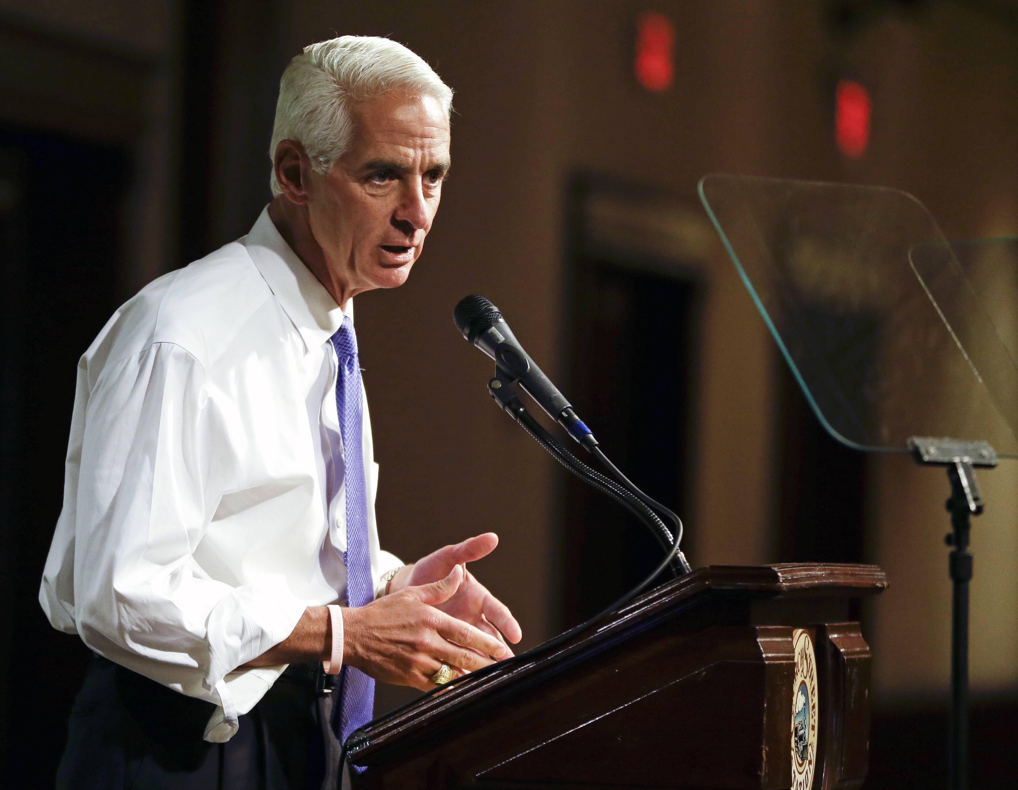 Florida Democratic gubernatorial candidate Charlie Crist campaigning in Orlando, Fla.