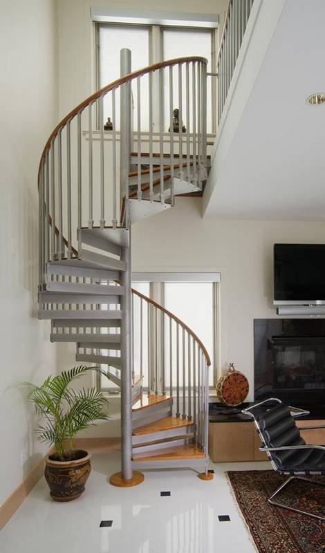 Spiral Staircase A Step To Save Floor Space