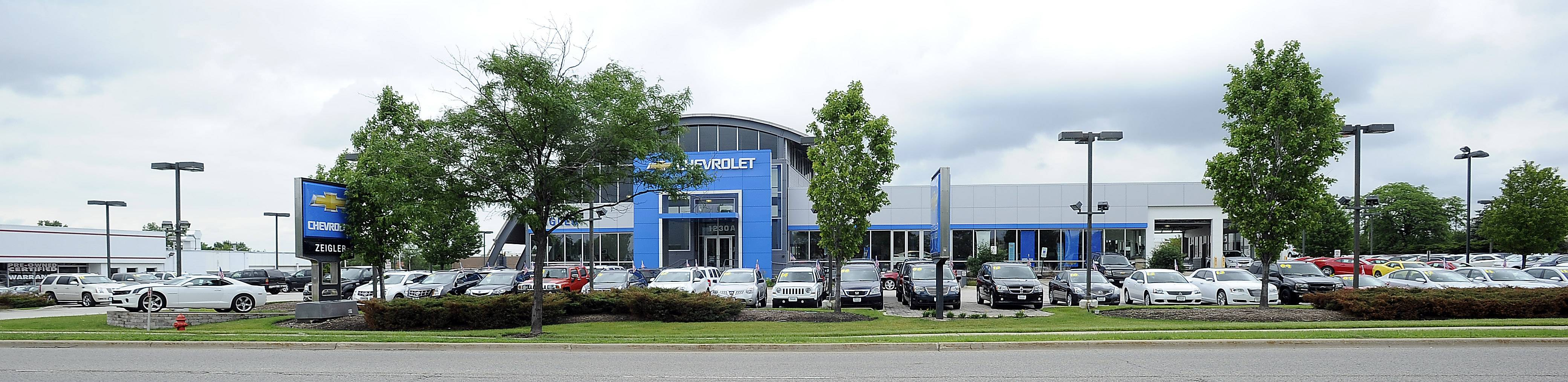 Zeigler Chevrolet in Schaumburg earned General Motors' Mark of Excellence for customer service in 2012 and 2013.