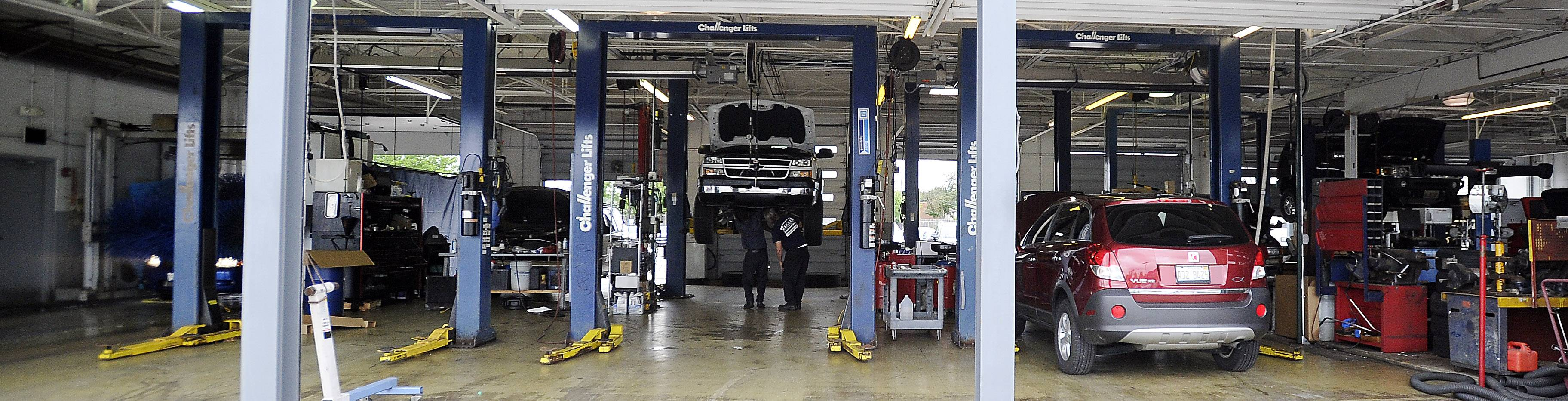 In addition to new and used car sales, Zeigler Chevrolet performs repairs.