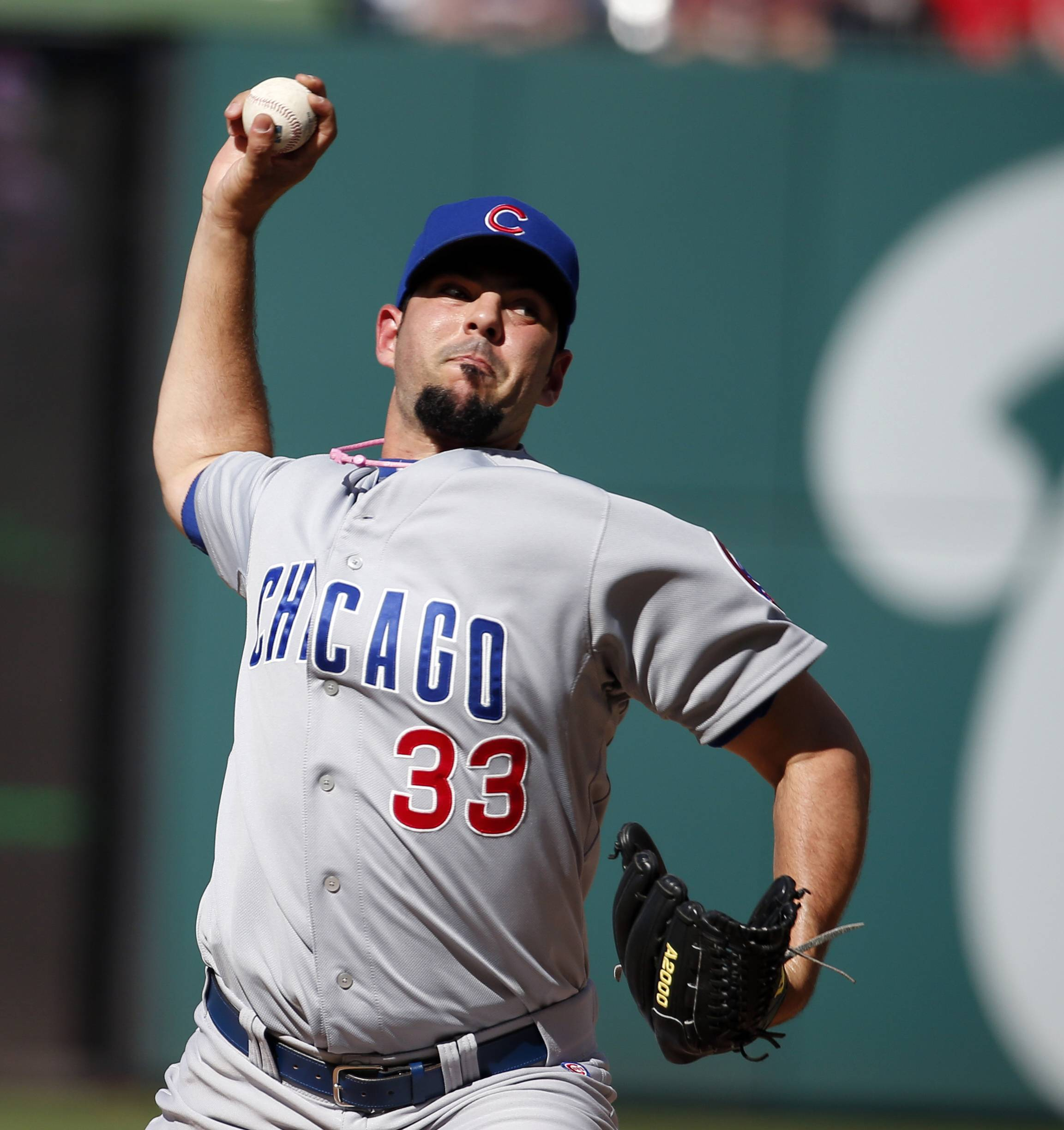 Chicago Cubs pitcher Carlos Villanueva was forced to start Saturday's game against the Washington Nationals after the team traded Jeff Samardzija, the scheduled starter. The Cubs lost 13-0.