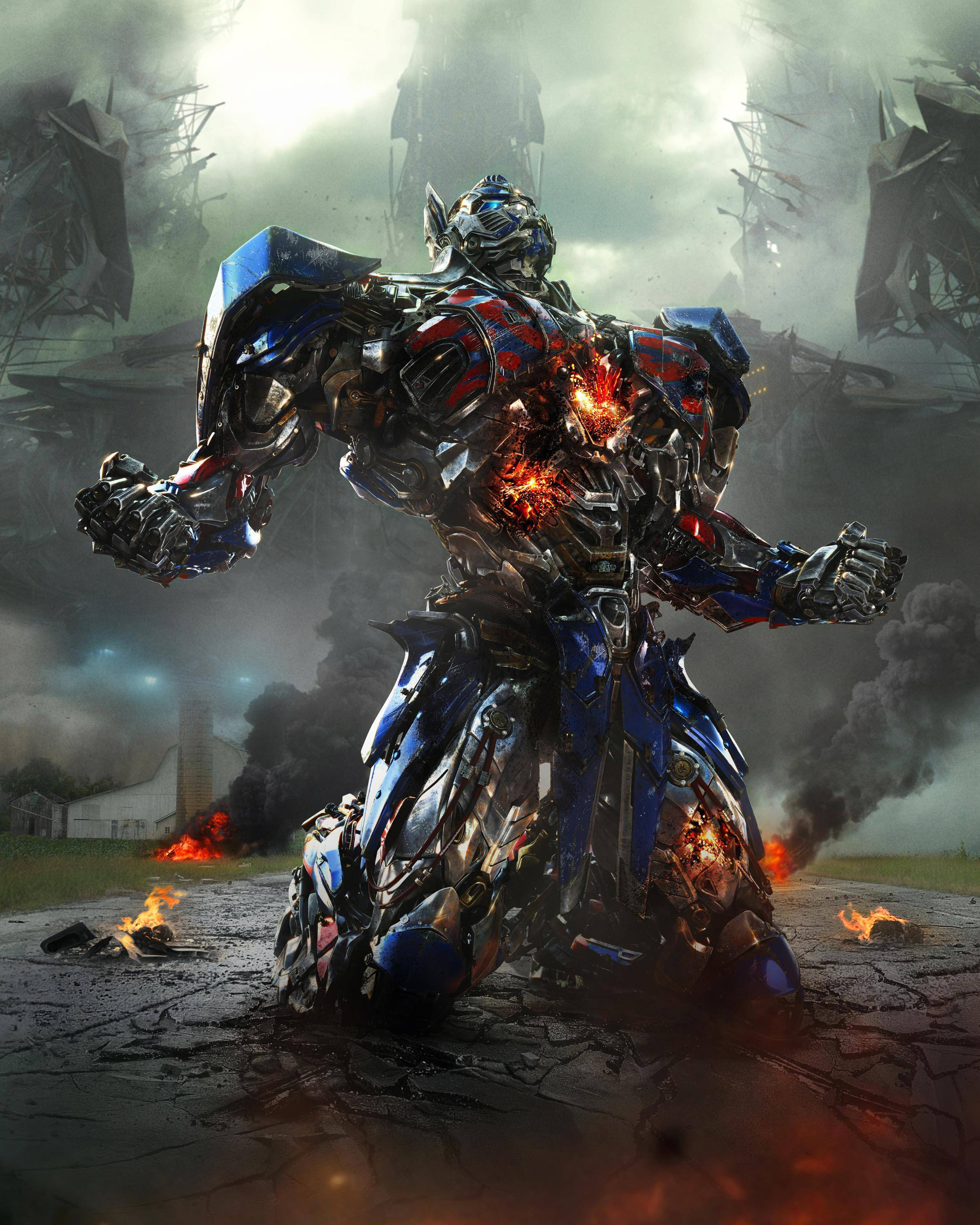 "Optimus Prime in the film, ""Transformers: Age of Extinction,"" which continued to lead the box office in its second weekend of release."