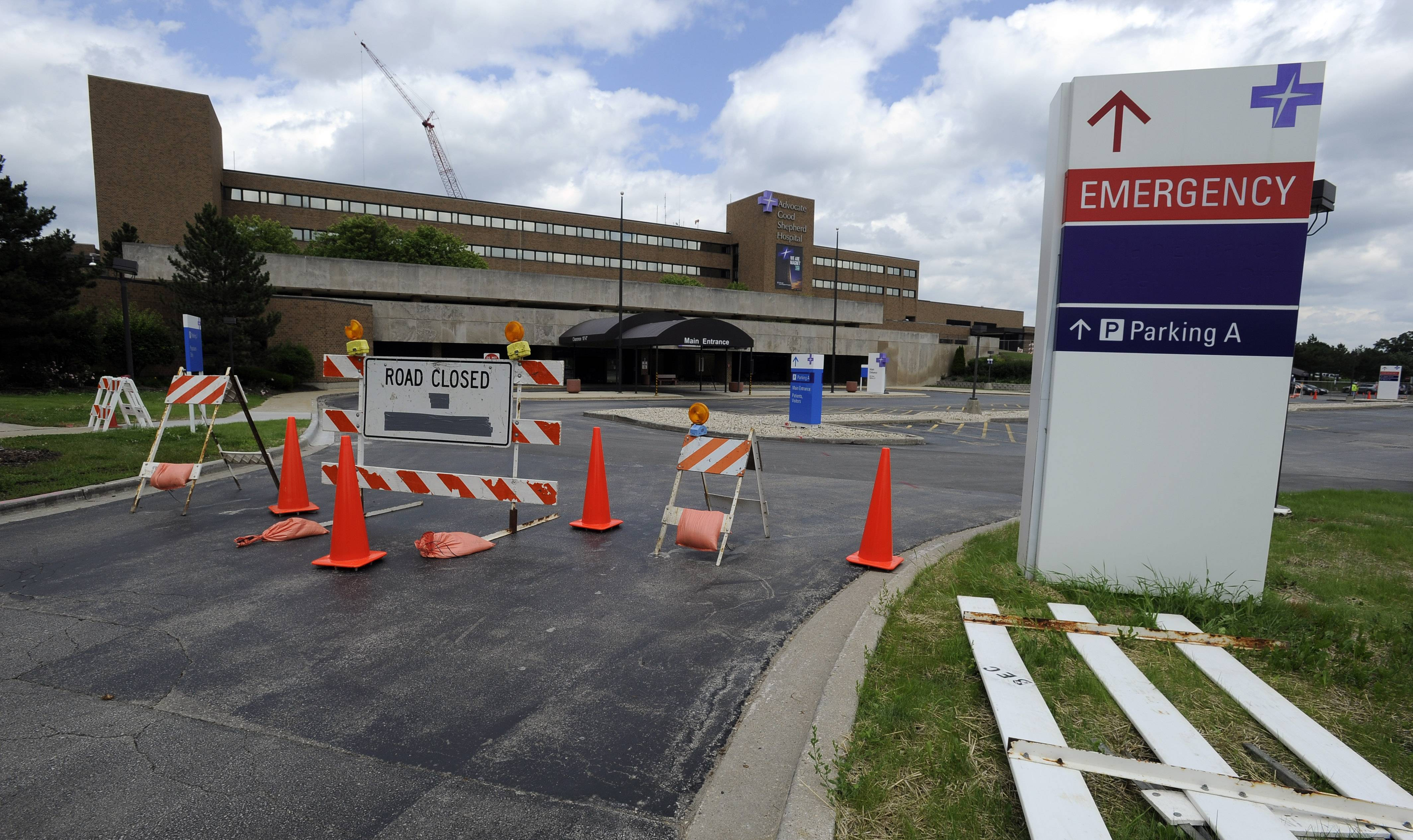 A new front entrance is part of an ongoing, $247 million modernization project at Advocate Good Shepherd Hospital near Lake Barrington. The main entrance will be closed 18 months while construction takes place.
