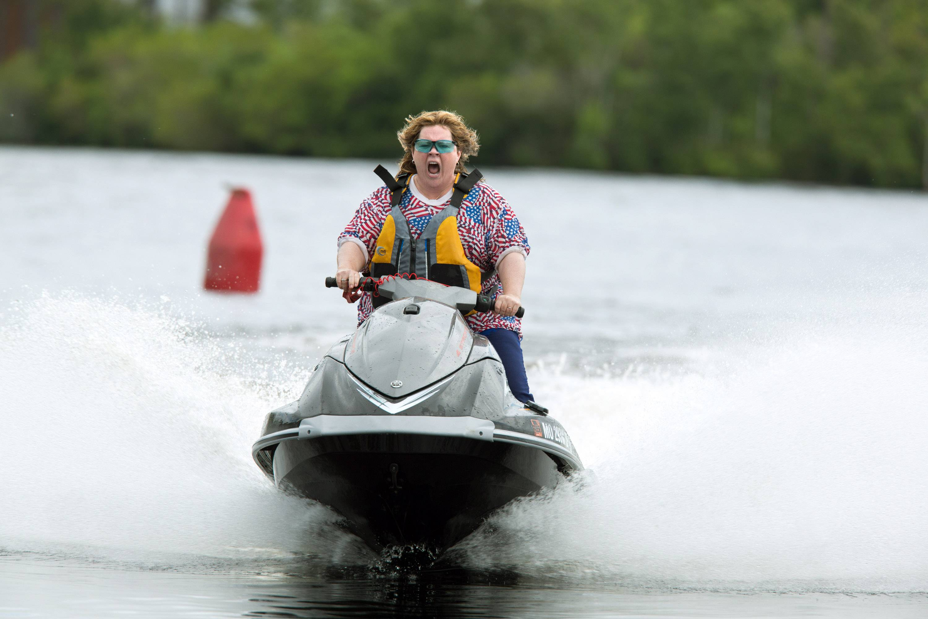 "Melissa McCarthy in a scene from ""Tammy,"" which she co-wrote with her husband, actor and director Ben Falcone. The film opened below expectations with $21.2 million."