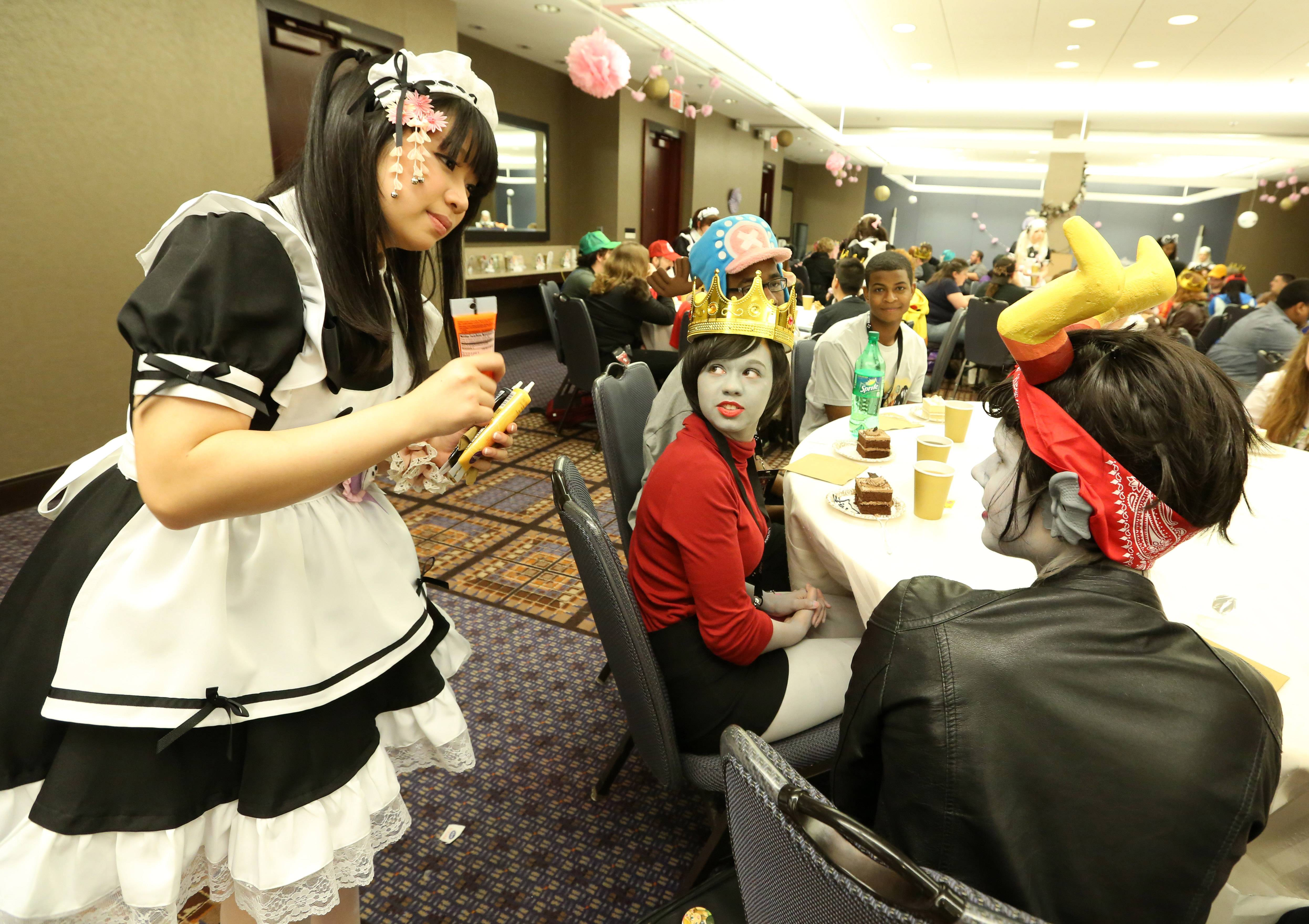 "The Anime Midwest convention this weekend in Rosemont includes a ""Maid Cafe."""