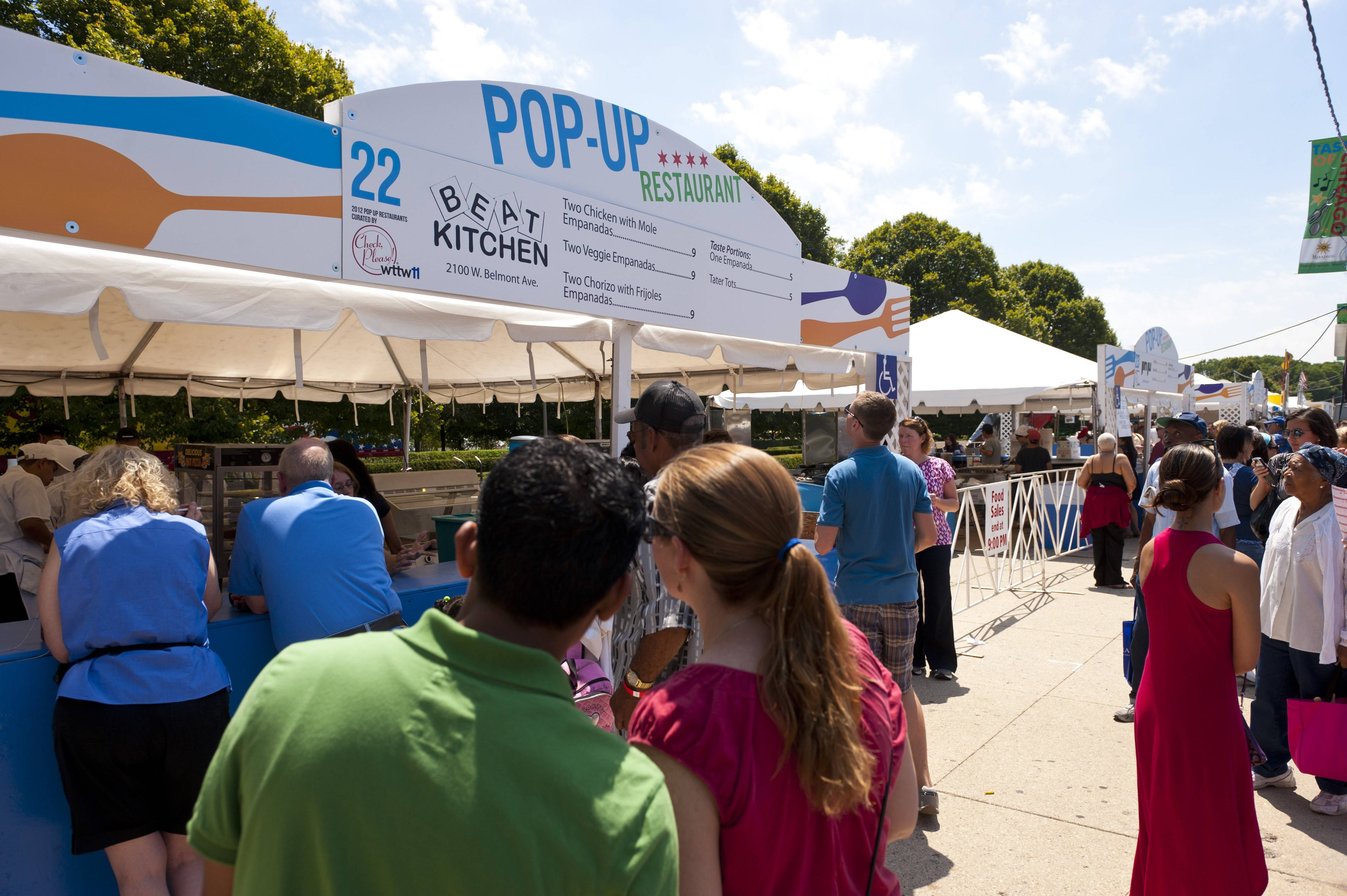 Eight new two-day pop-up restaurants are among the 66 food vendors at the 34th Taste of Chicago, which runs Wednesday through Sunday, July 9-13, in Grant Park.