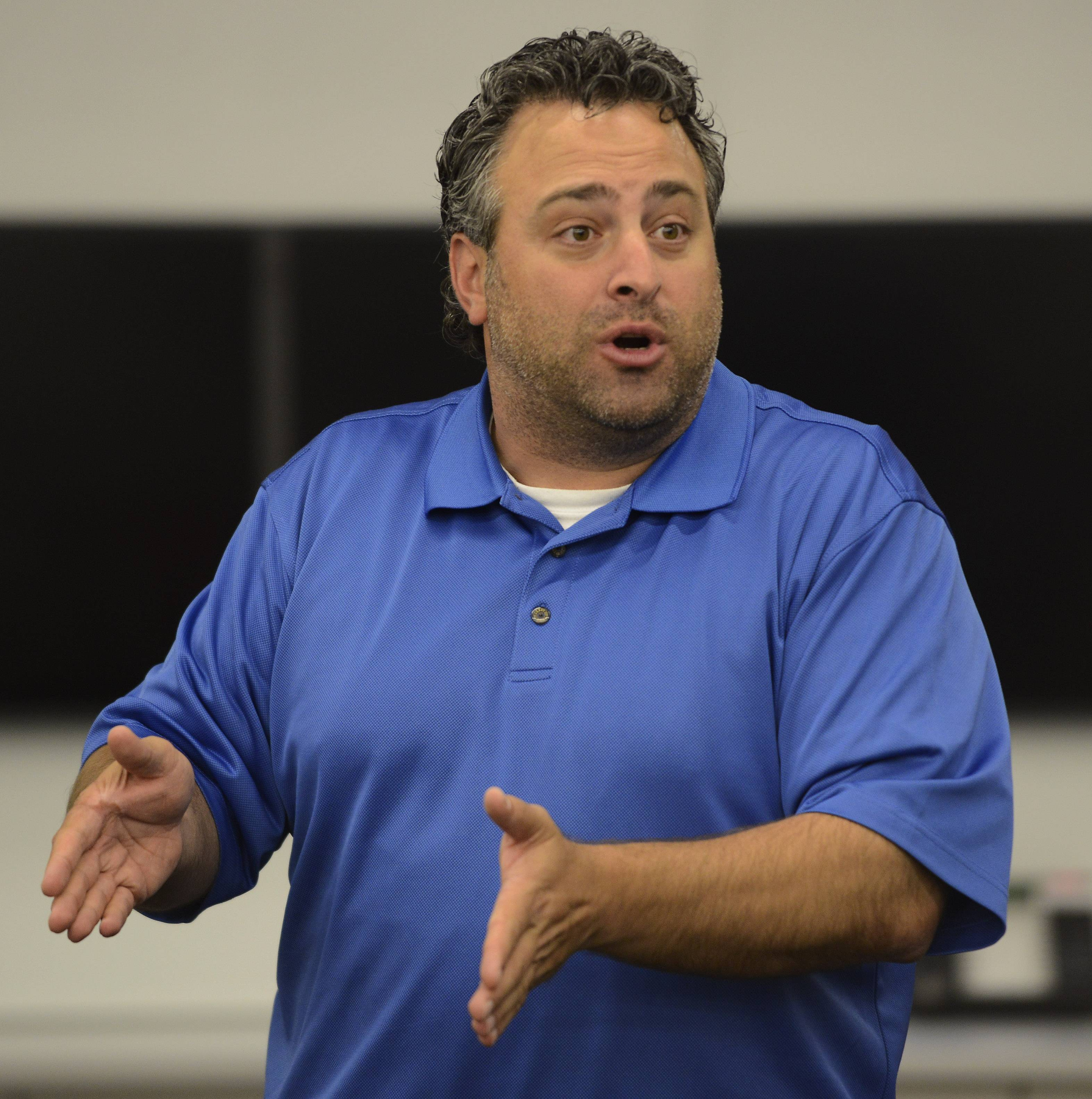 Teacher Hagop Soulakian speaks during a summer session of the Business Incubator class at Barrington High School.