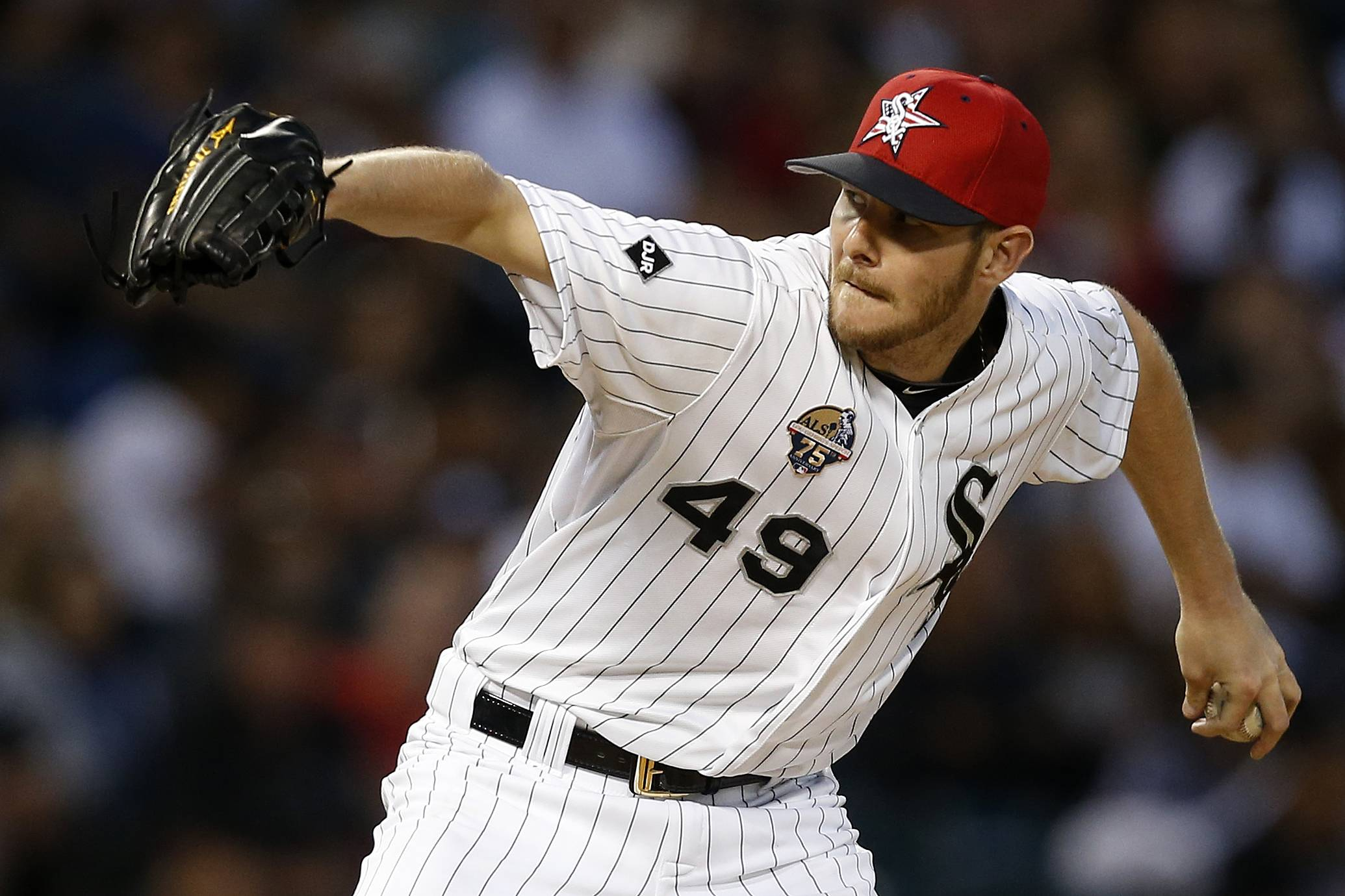 White Sox starting pitcher Chris Sale needs the support of fans to make the all-star team via the Final Vote. He is 8-1 with a 2.16 ERA.