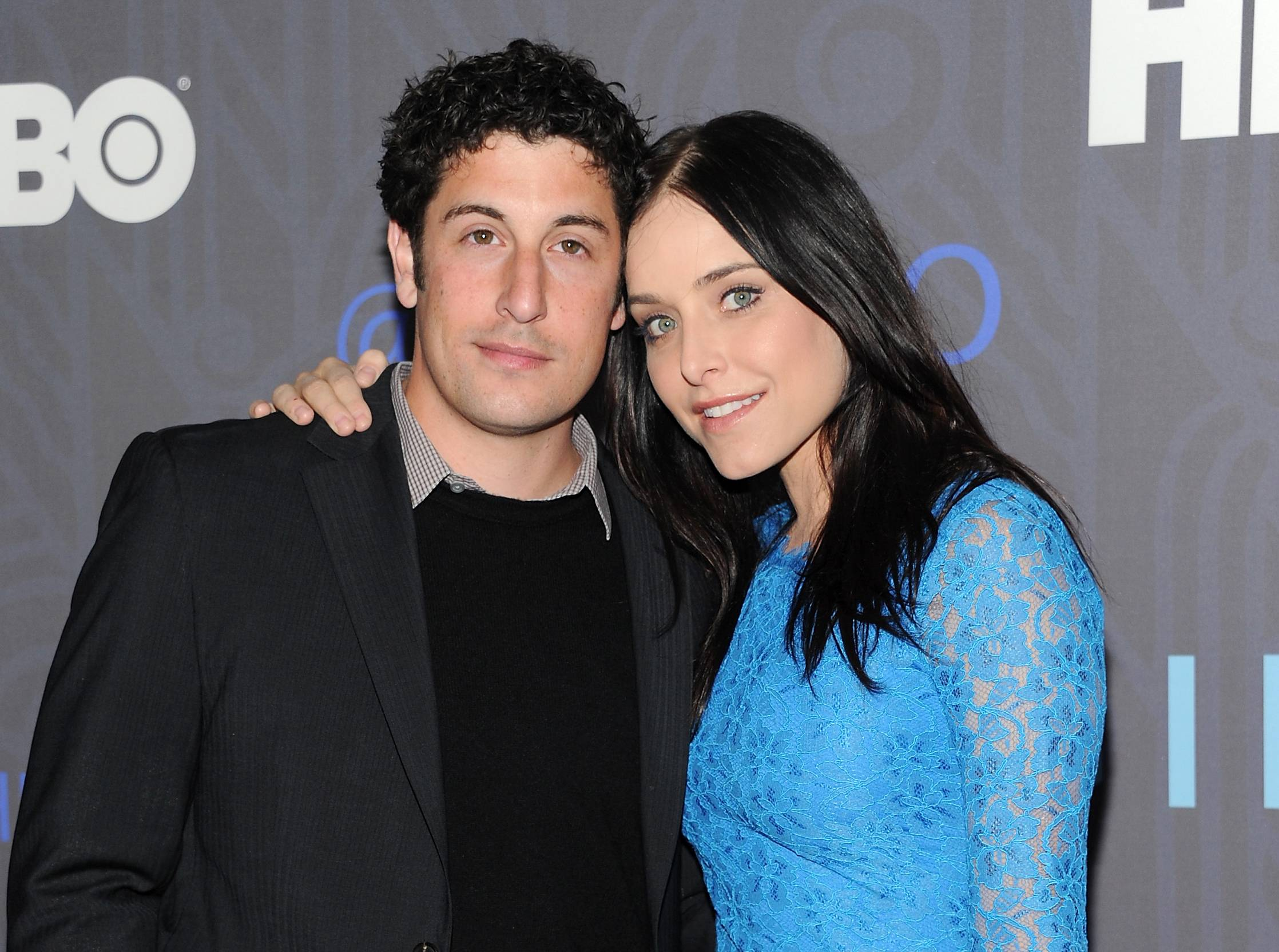 "Jason Biggs and wife, actress Jenny Mollen, attend the HBO premiere of ""Girls"" in New York. Mollen is the author of a new book called, ""I Like You Just the Way I Am: Stories About Me and Some Other People."""