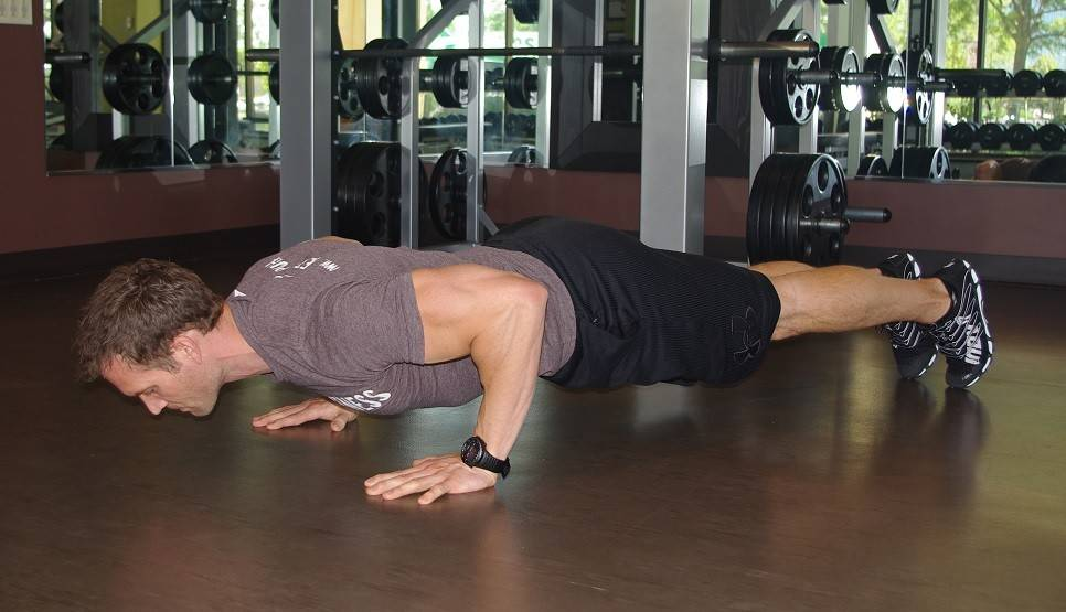 Try a pushup instead of using a chest press machine.