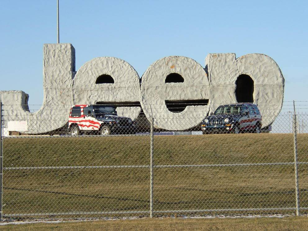 A 2002 Jeep Wrangler, left, and Jeep Liberty parked outside of the Toledo, Ohio, assembly plant after Sept. 11.