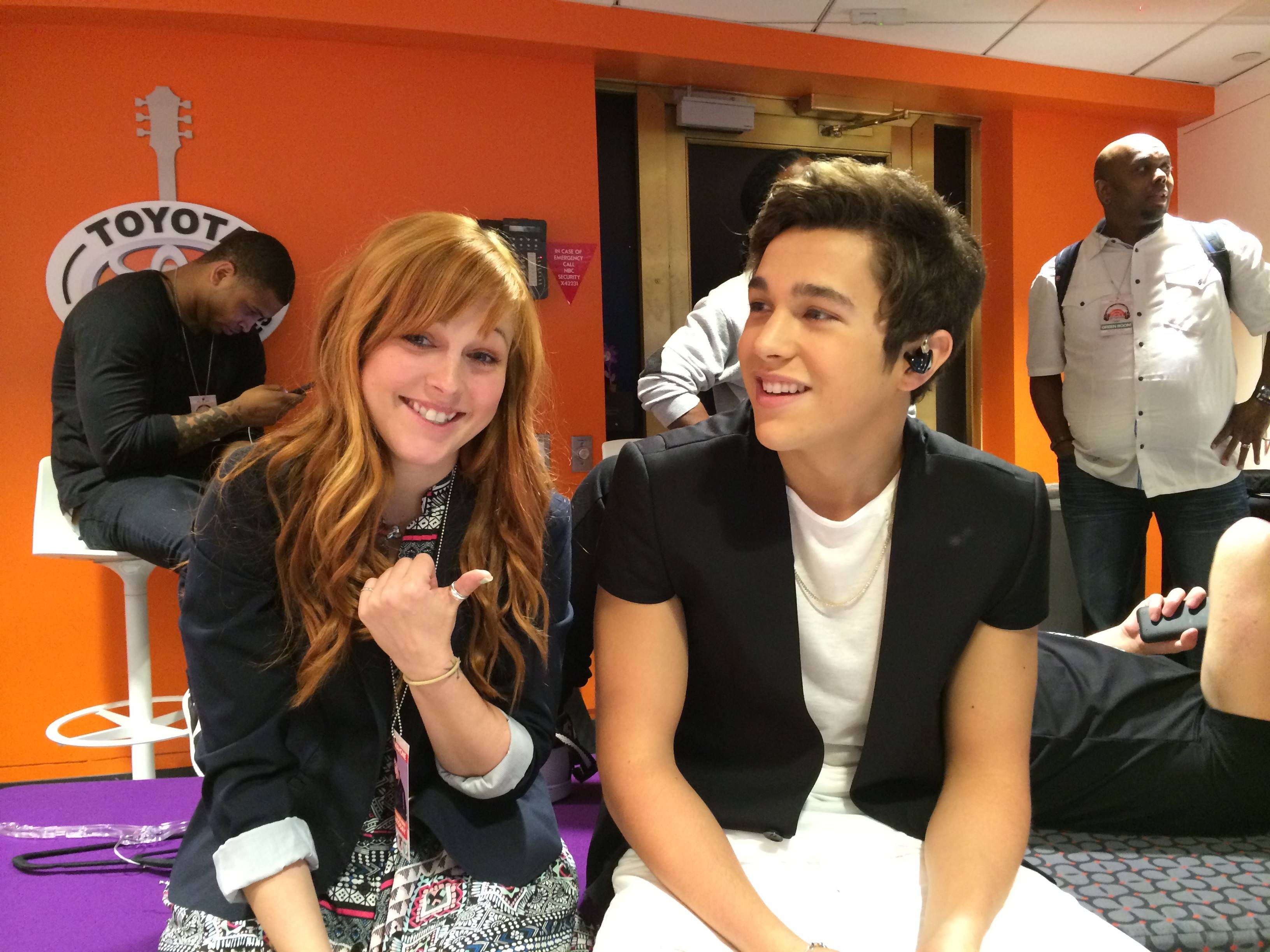 Choreographer and dancer Aubree Storm, of Elburn, works with pop star Austin Mahone, above, and Justin Bieber, top left.