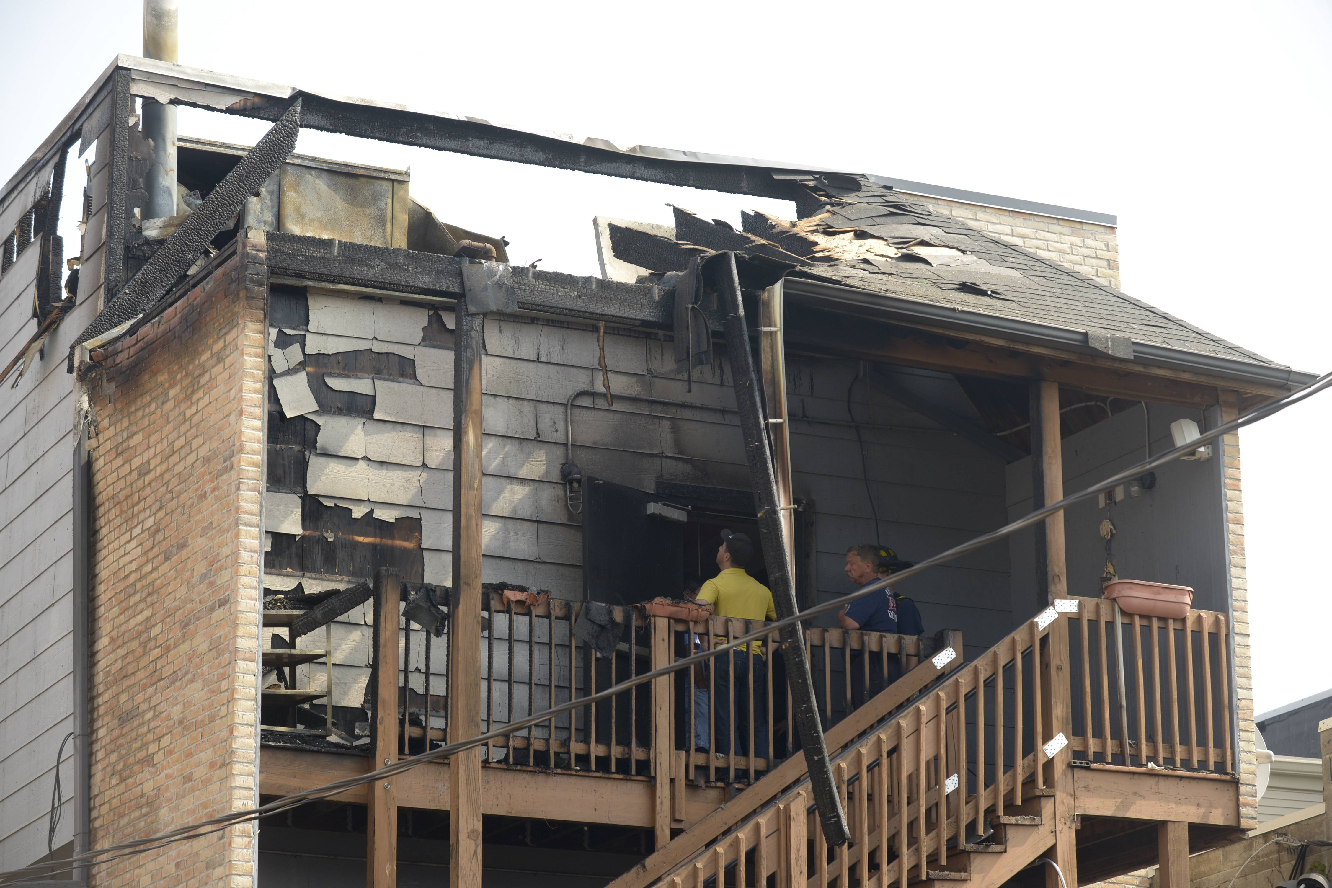 Naperville Fire Marshal Scott Scheller said the fire that caused $200,000 in damage to Rizzo's at 6 W. Jefferson Ave. started outside on the roof or back porch in the southwest corner of the building, then extended slightly inside the structure. Investigators are working to determine the cause of the fire.