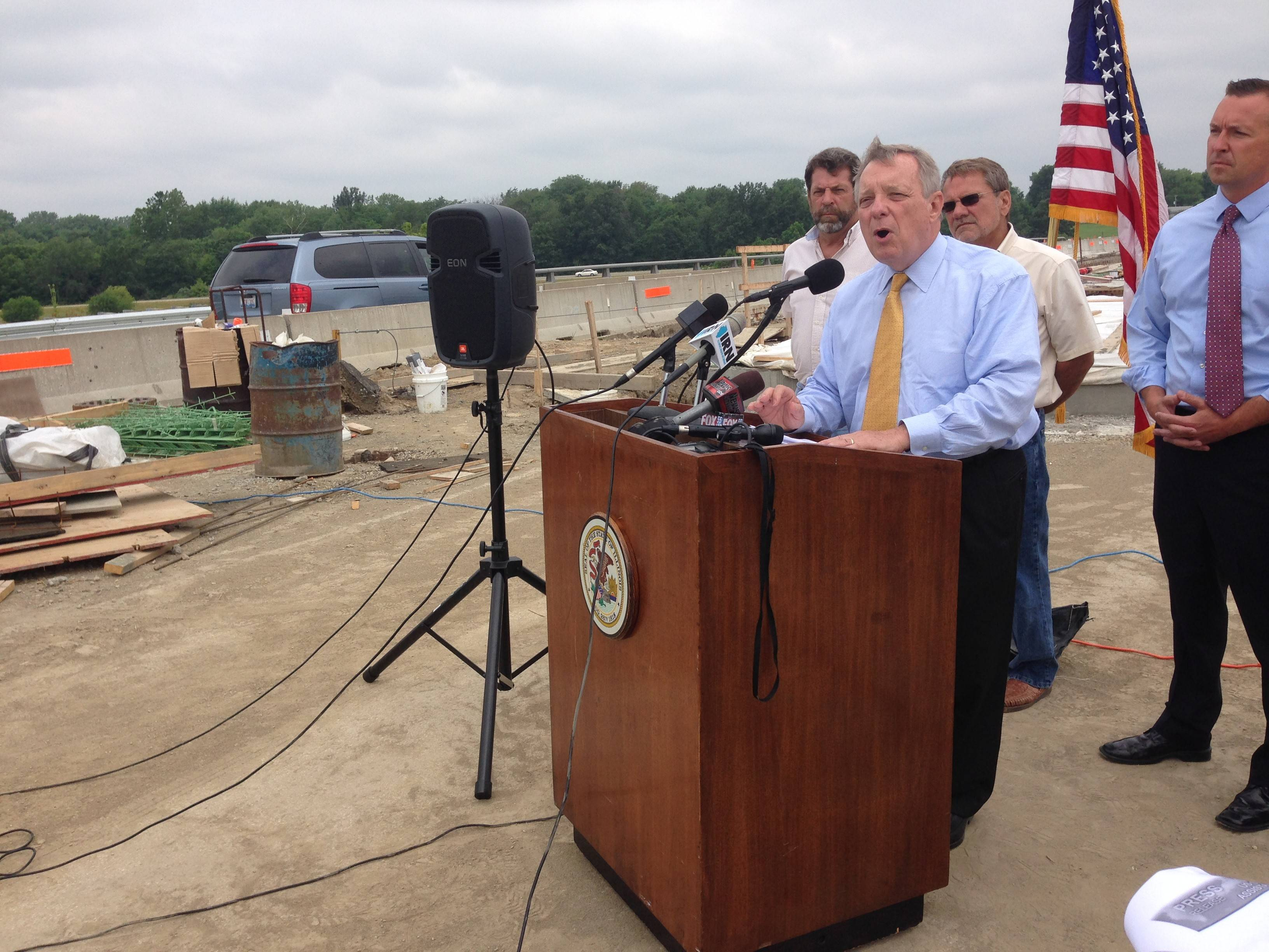 U.S. Sen. Dick Durbin said a pot of money the federal government uses to pay for road construction could go dry soon.