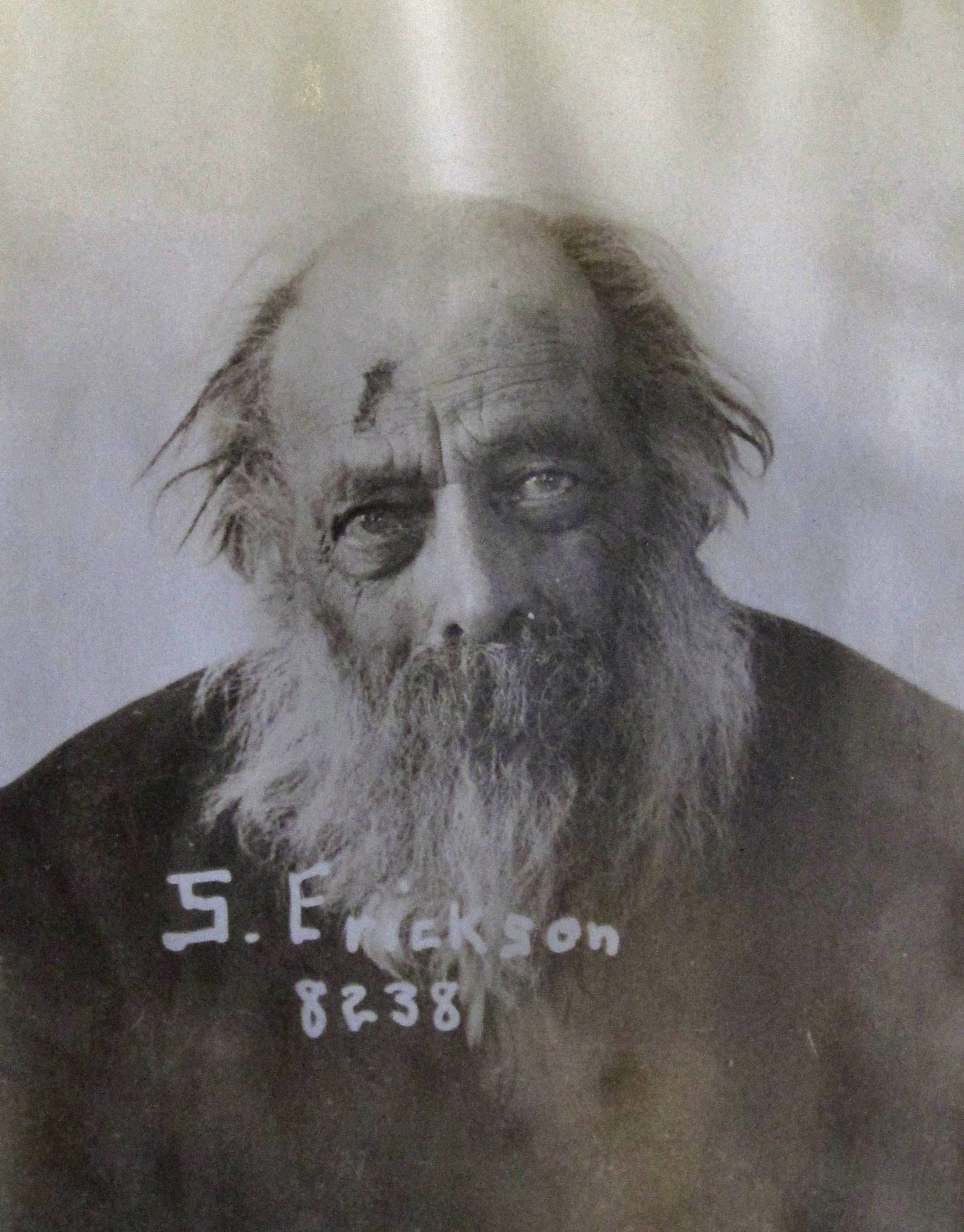 This undated photo shows S. Erickson, a former patient at an Oregon state mental hospital in Salem, Ore. Erickson was one of more than 3,000 people, mostly former mental patients, whose remains were never claimed and remain at the hospital.