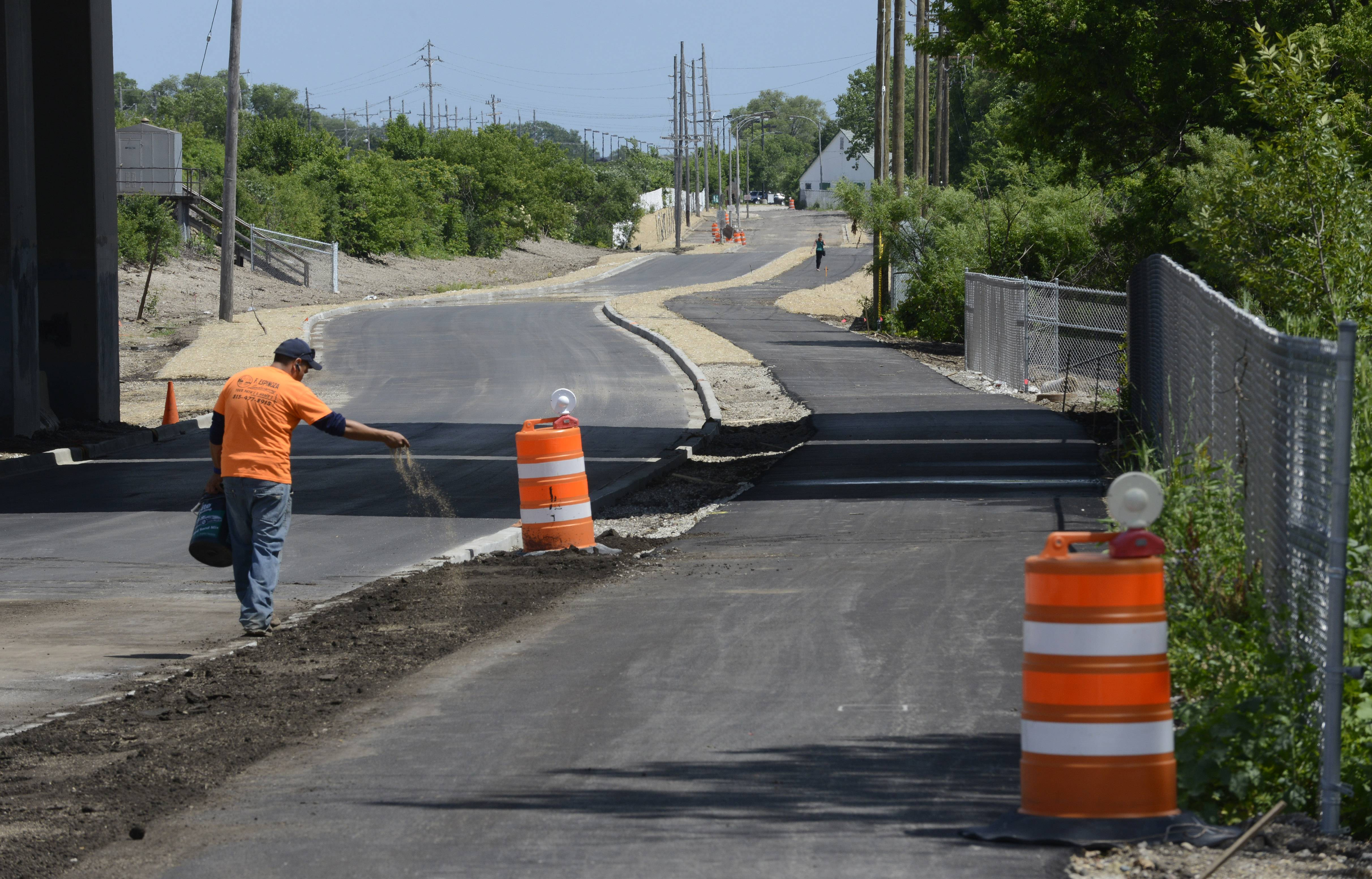 The reconstruction of Commuter Drive, which runs from Rohlwing Road in Rolling Meadows to the Arlington Park Metra station, should be complete next week, officials say. The $1.8 million project was undertaken jointly by Rolling Meadows and Arlington Heights.