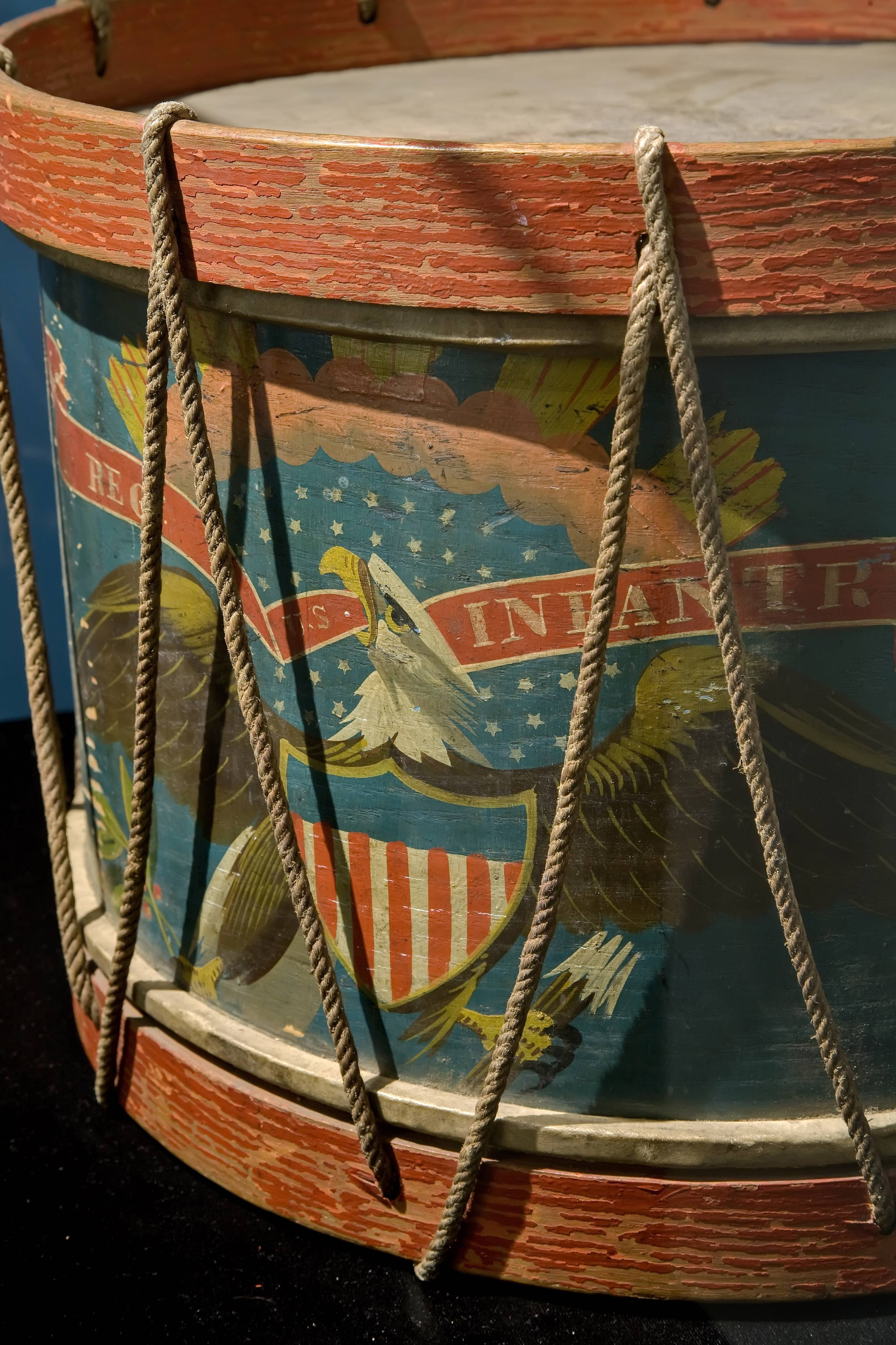 A photo by Mark Widhalm of the 96th Illinois Volunteer regimental drum.