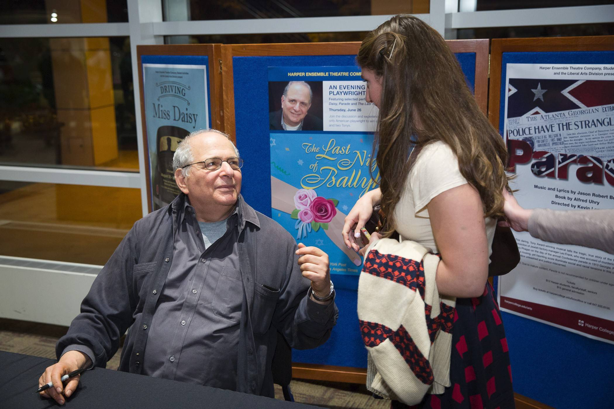 "Alfred Uhry's visit comes as students prepare for a production of his play, ""The Last Night in Ballyhoo."""