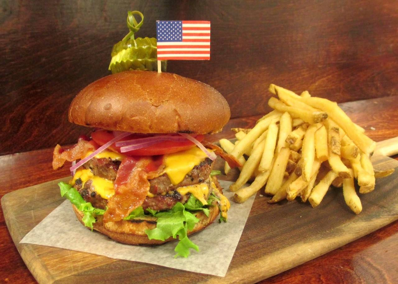 The Veteran's Burger is available at Weber Grill through the end of July. One dollar from each burger sold benefits Operation Home Front.