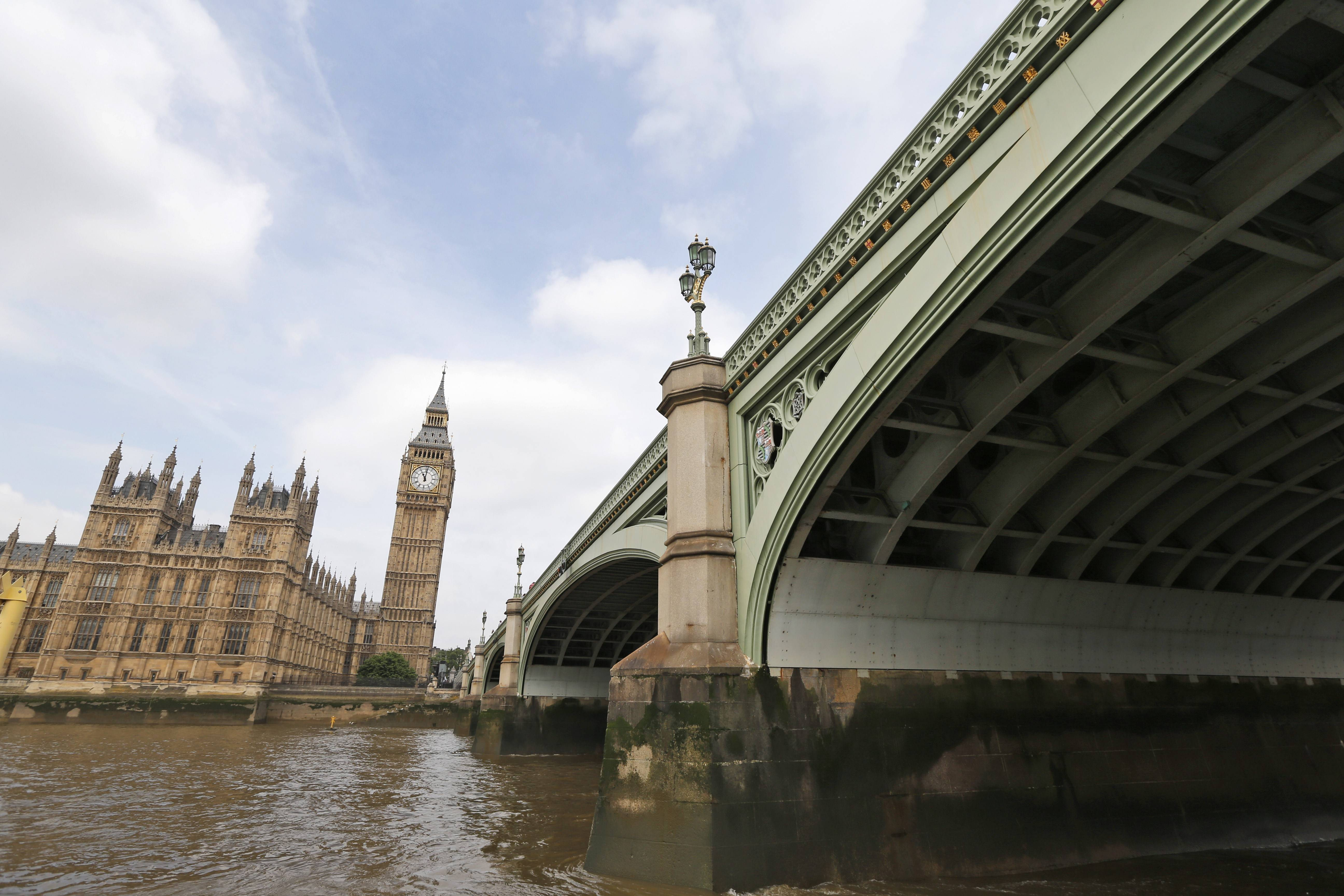 A new exhibition at Museum of London Docklands highlights bridges spanning the River Thames, like the Westminster Bridge, which is closes to the Houses of Parliament.
