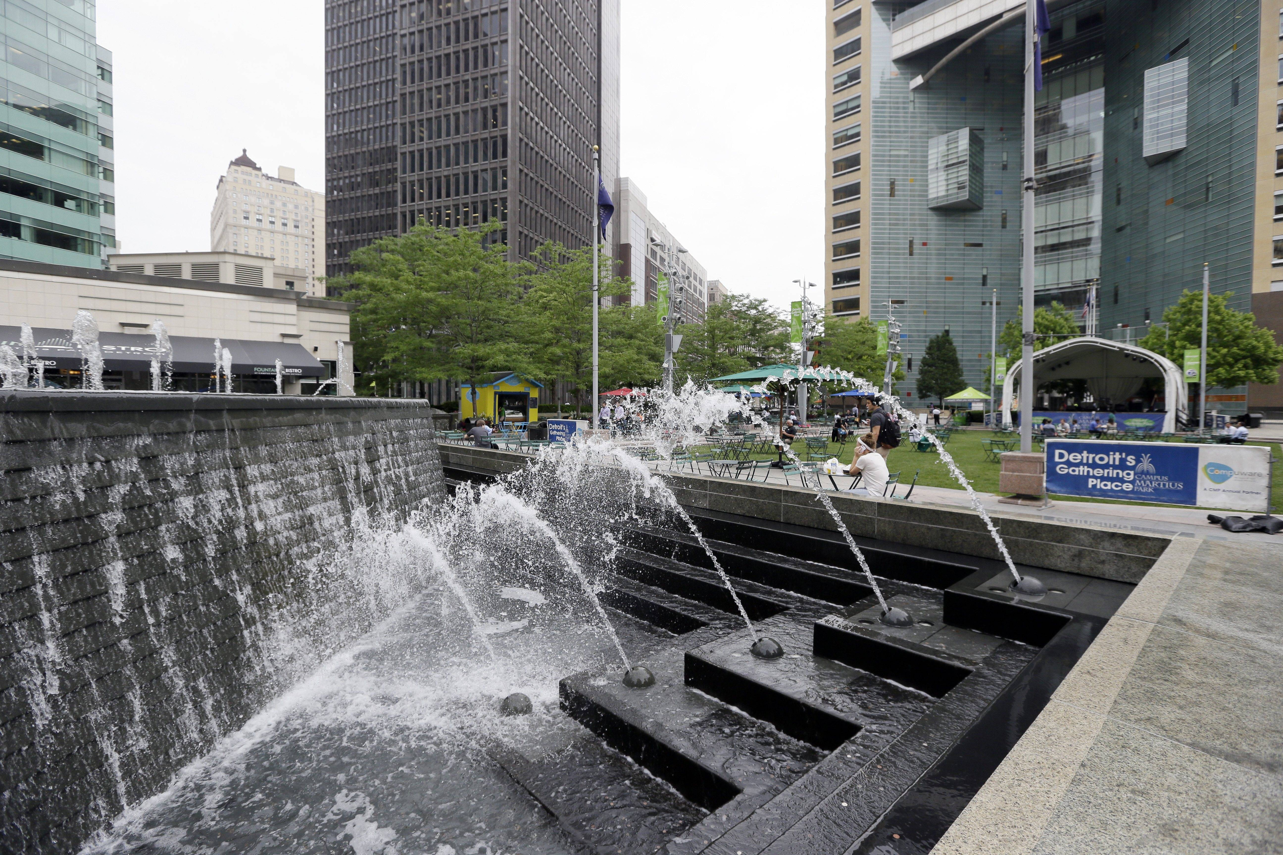 Campus Martius is a 1.6-acre park where the historic Woodward and Michigan avenues converge. It opened in 2004 after several years of plans and more than $20 million in donations.