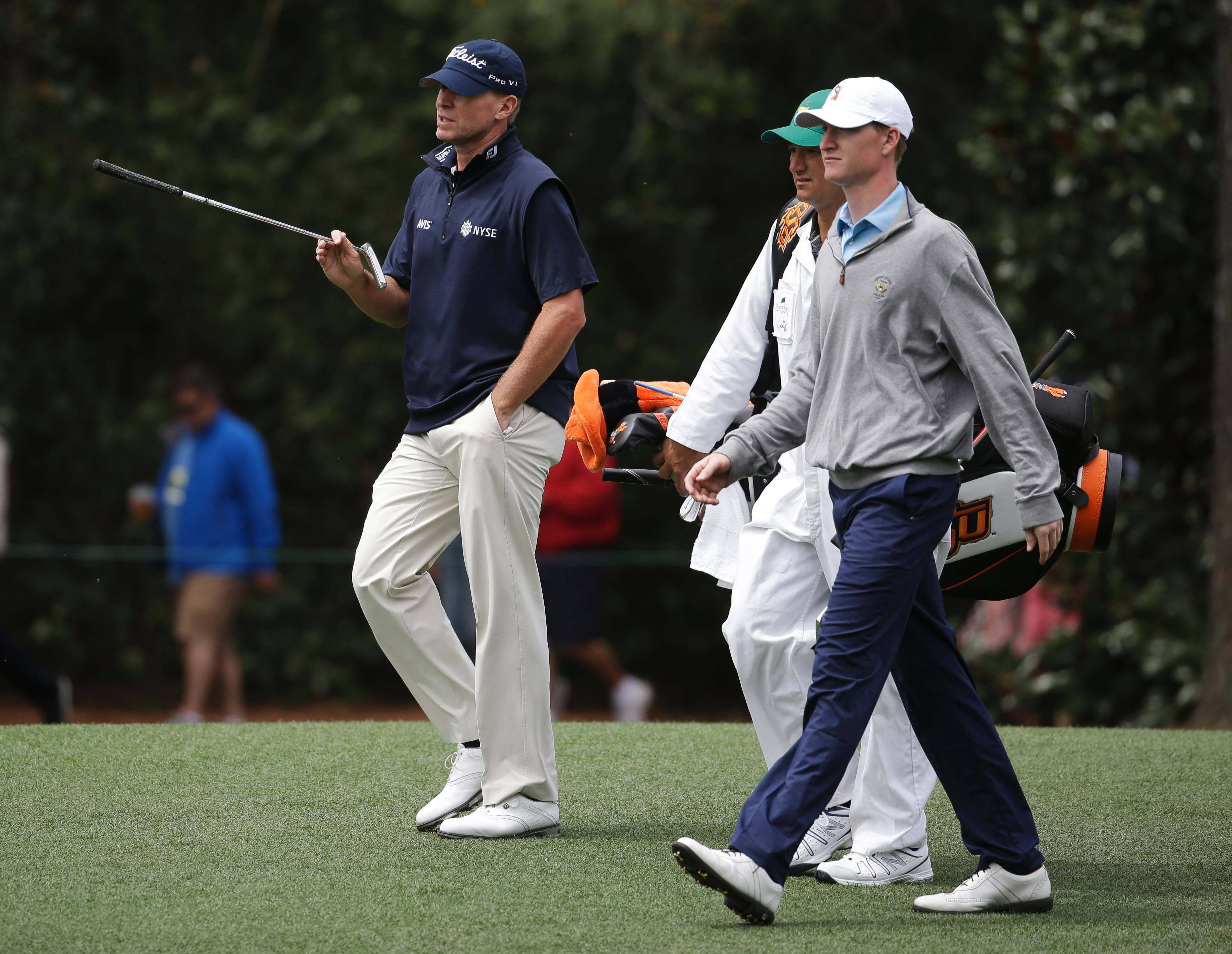 With their Wisconsin upbringing, Steve Stricker, left, and amateur champ Jordan Niebrugge, right, have more in common than the game of golf.