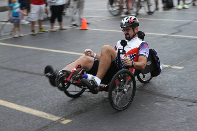 Adam Allen received first place in the cycling event at 2013 Valor Games Midwest. This year's cycling event takes place on Aug. 21 at United Center this year.