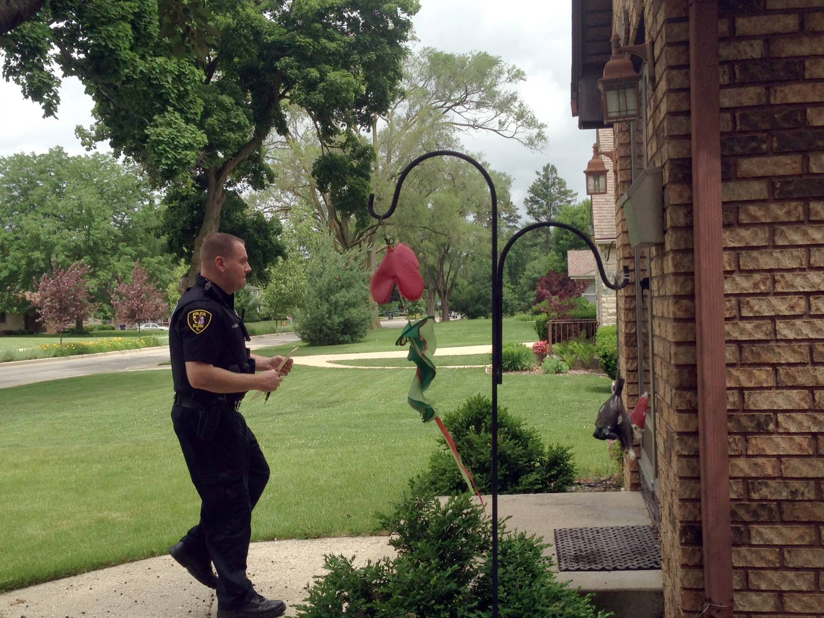 Elgin police officer Rob Engelke visited the home of a registered sex offender last month as part of the department's routine checks. Engelke is a member of the resident officer program.