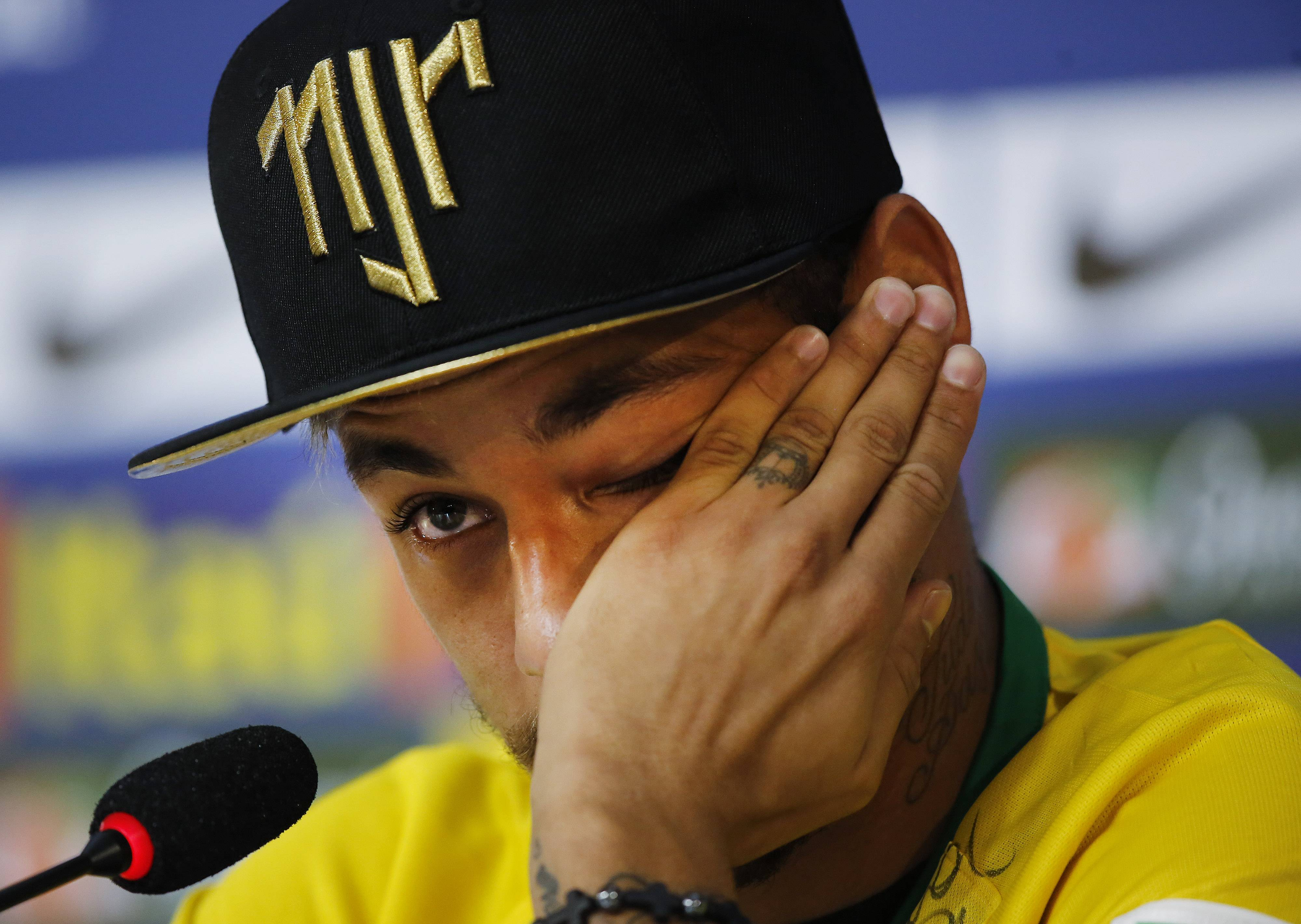 "Neymar became emotional when talking Thursday about the injury that ruled him out of the World Cup, saying that if the knee to his back had been slightly more to one side he ""could be in a wheelchair"" right now. The Brazil striker cried as he recalled the injury, saying ""God blessed"" him and prevented a more serious injury. Neymar had to stop talking for several seconds, lowering his head and putting a hand in front of his eyes."