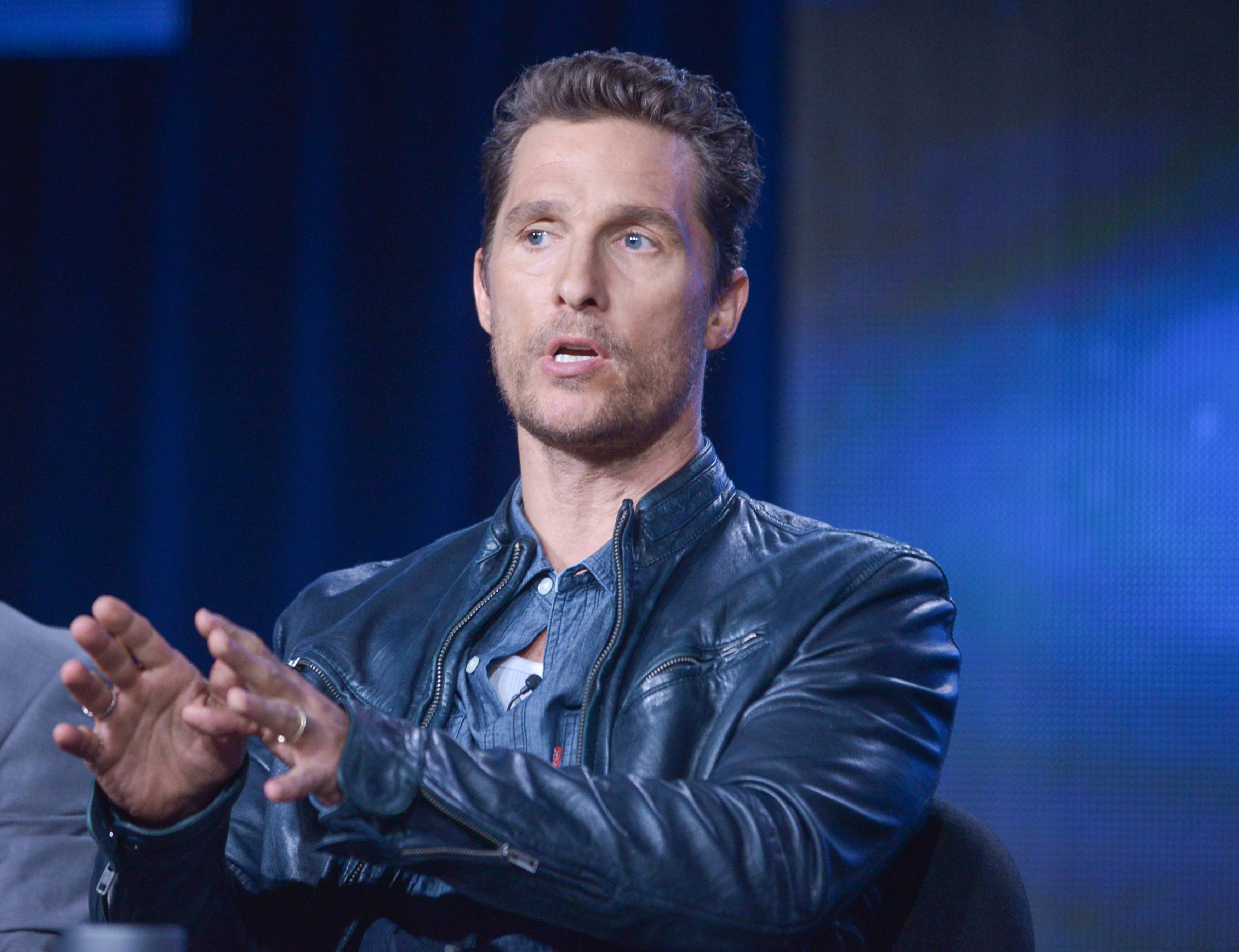 "Matthew McConaughey has been nominated for a best actor Emmy for his role in ""True Detective."""
