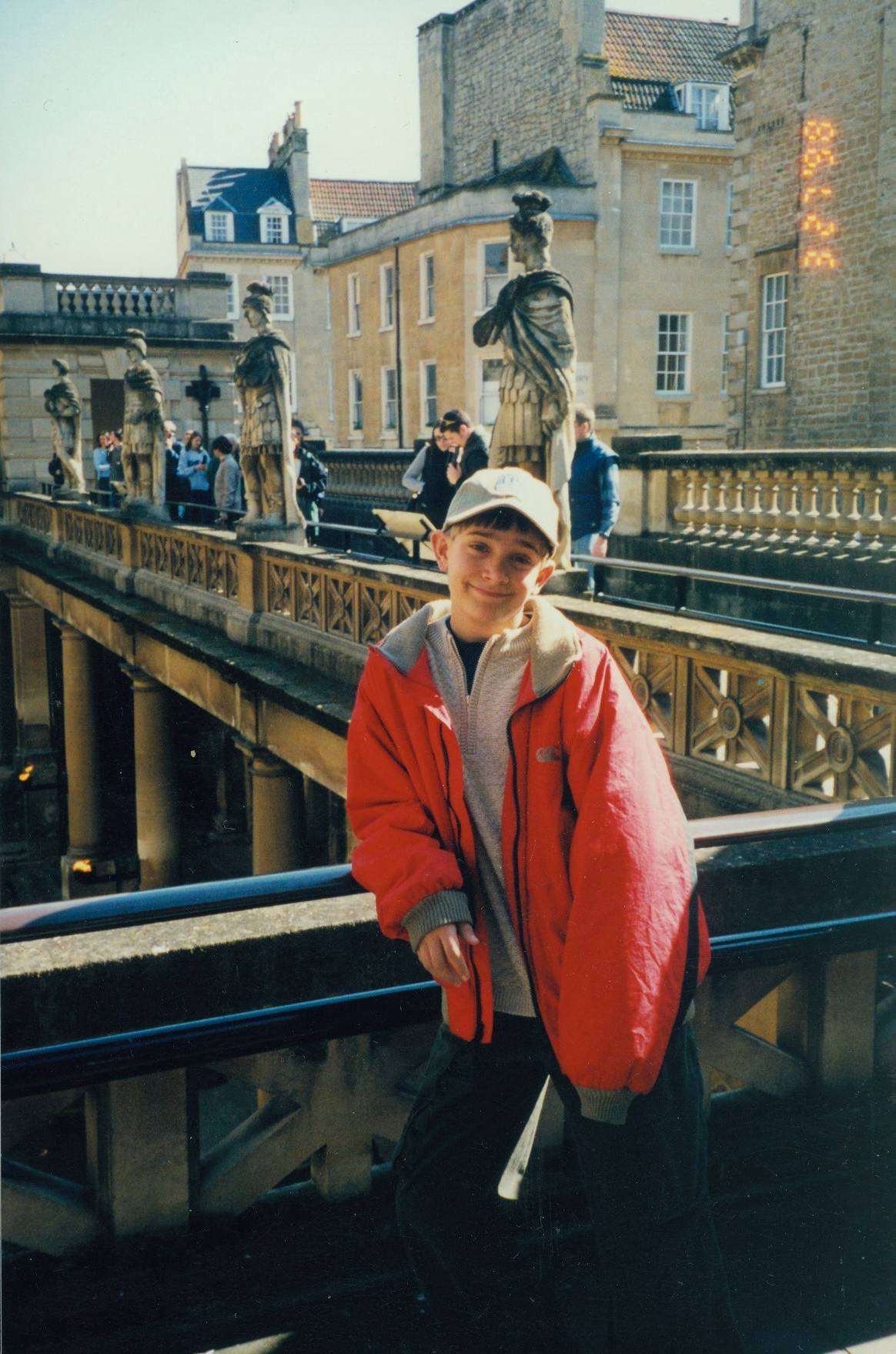 Visiting Bath, England.