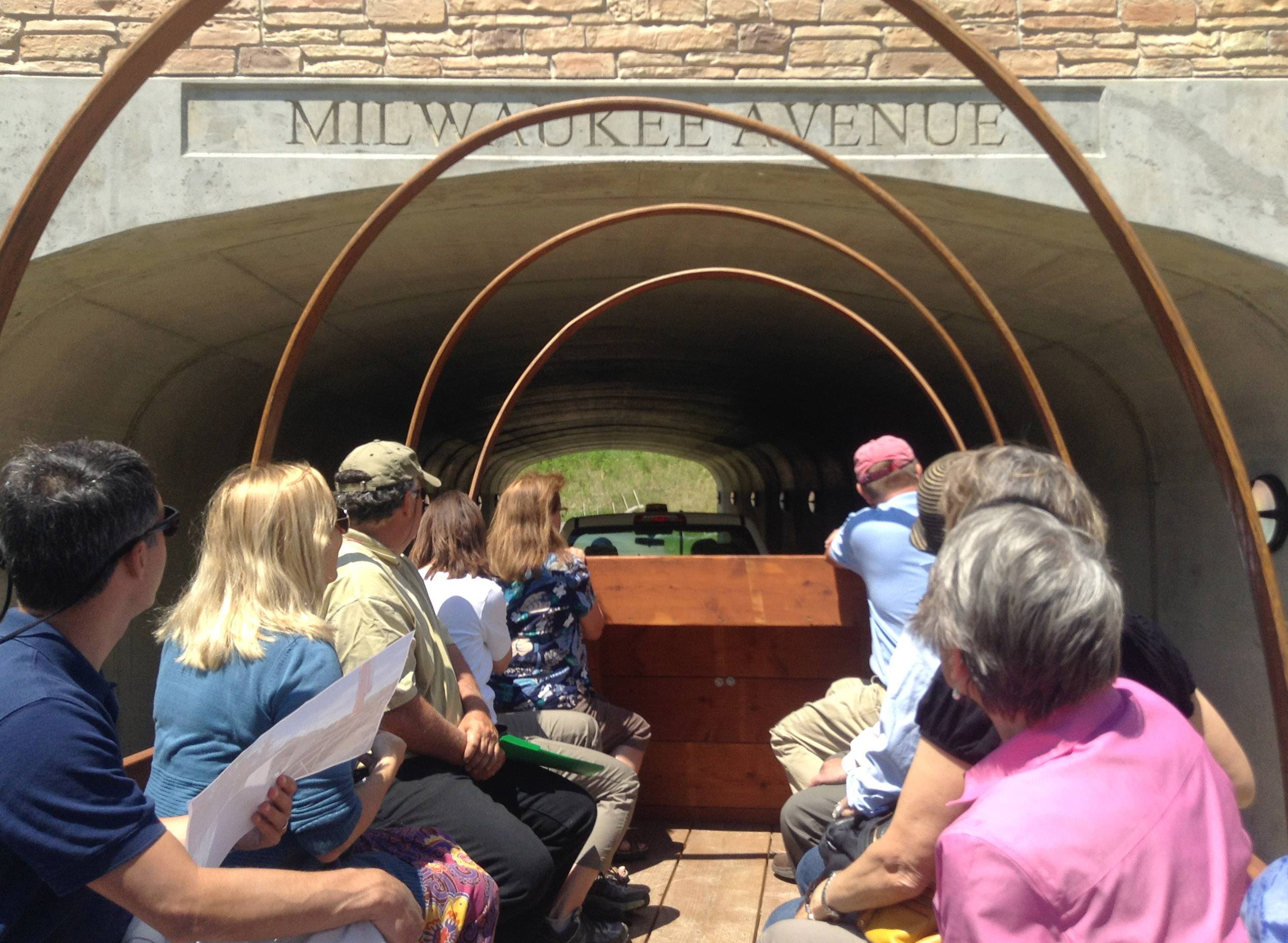 A group Thursday tours a new section of trail that features an underpass beneath Milwaukee Avenue near Libertyville. That allowed for the connection of the Libertyville Township trail to the Des Plaines River Trail.