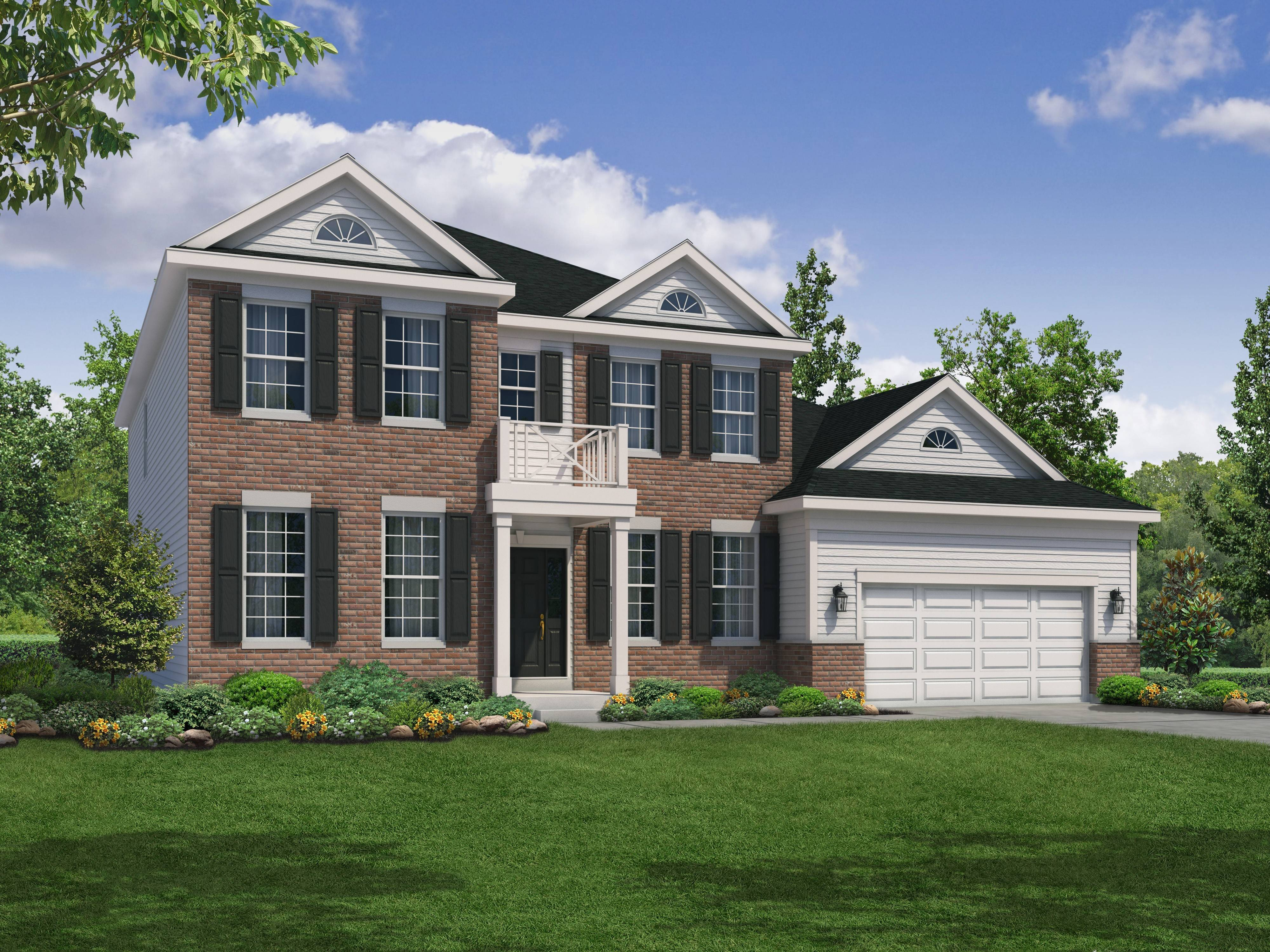 A rendering of a model single-family home in Bartlett Ridge, a subdivision proposed for vacant land on Naperville Road, south of Lake Street.