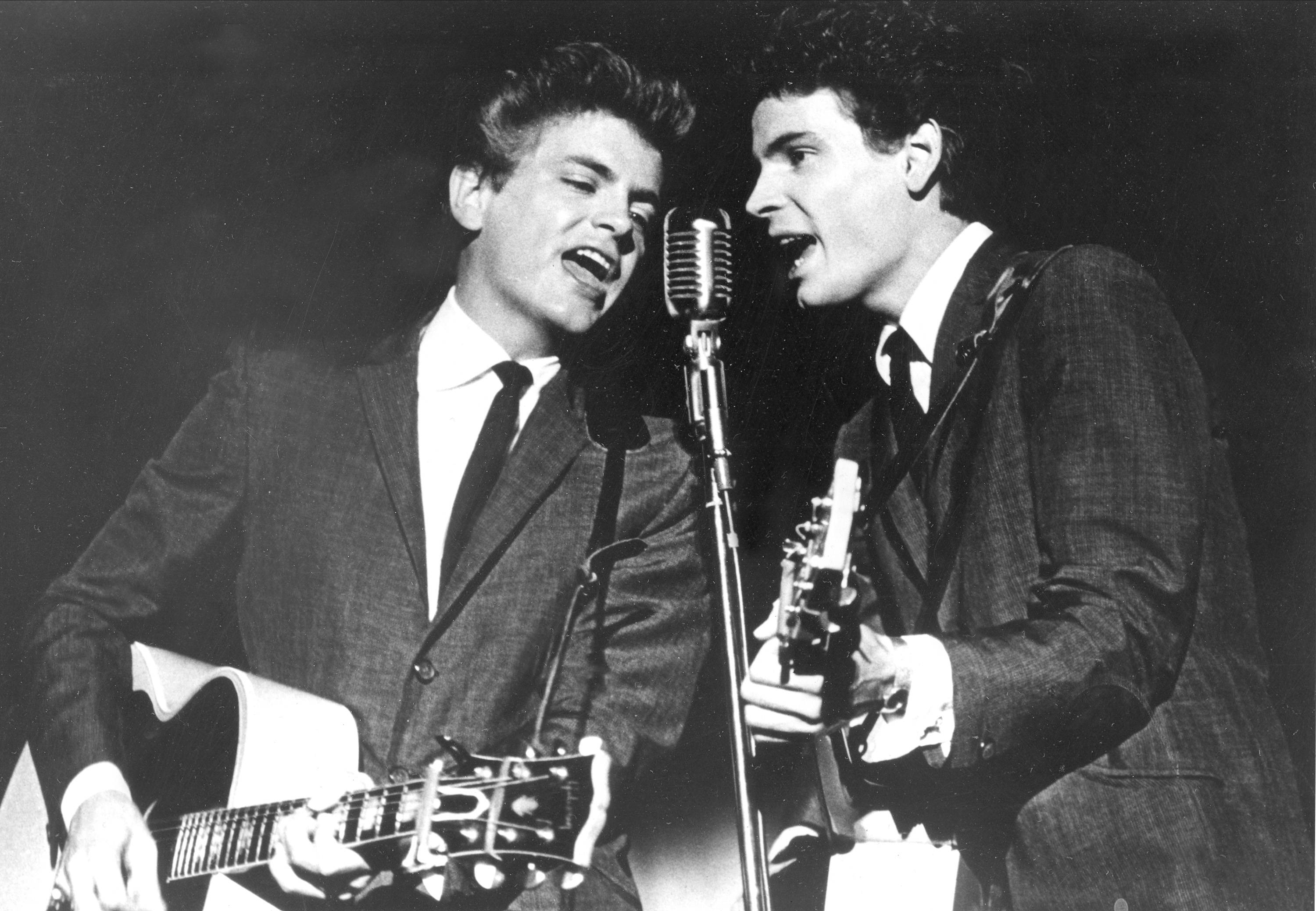Don Everly and Phil Everly of The Everly Brothers during a 1964 performance. The Rock and Roll of Fame will honor the Everly Brothers with a tribute concert this fall featuring surviving member Don Everly.