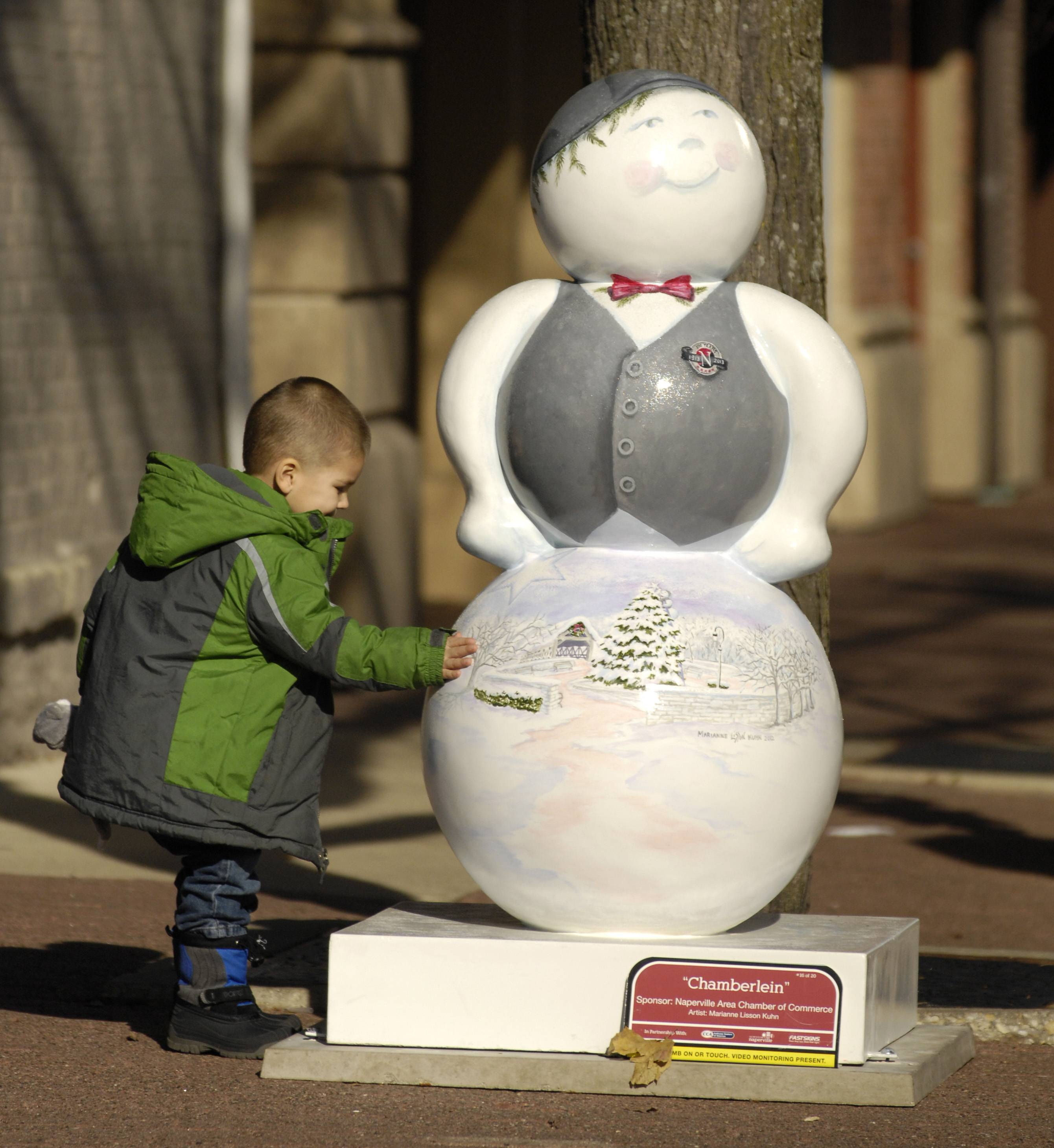 The Downtown Naperville Alliance launched an outdoor public art project featuring decorated sculptures of snowmen to celebrate the winter holidays in 2012. The idea caught on and this year the Alliance will be sponsoring a similar display featuring miniature steam engines.
